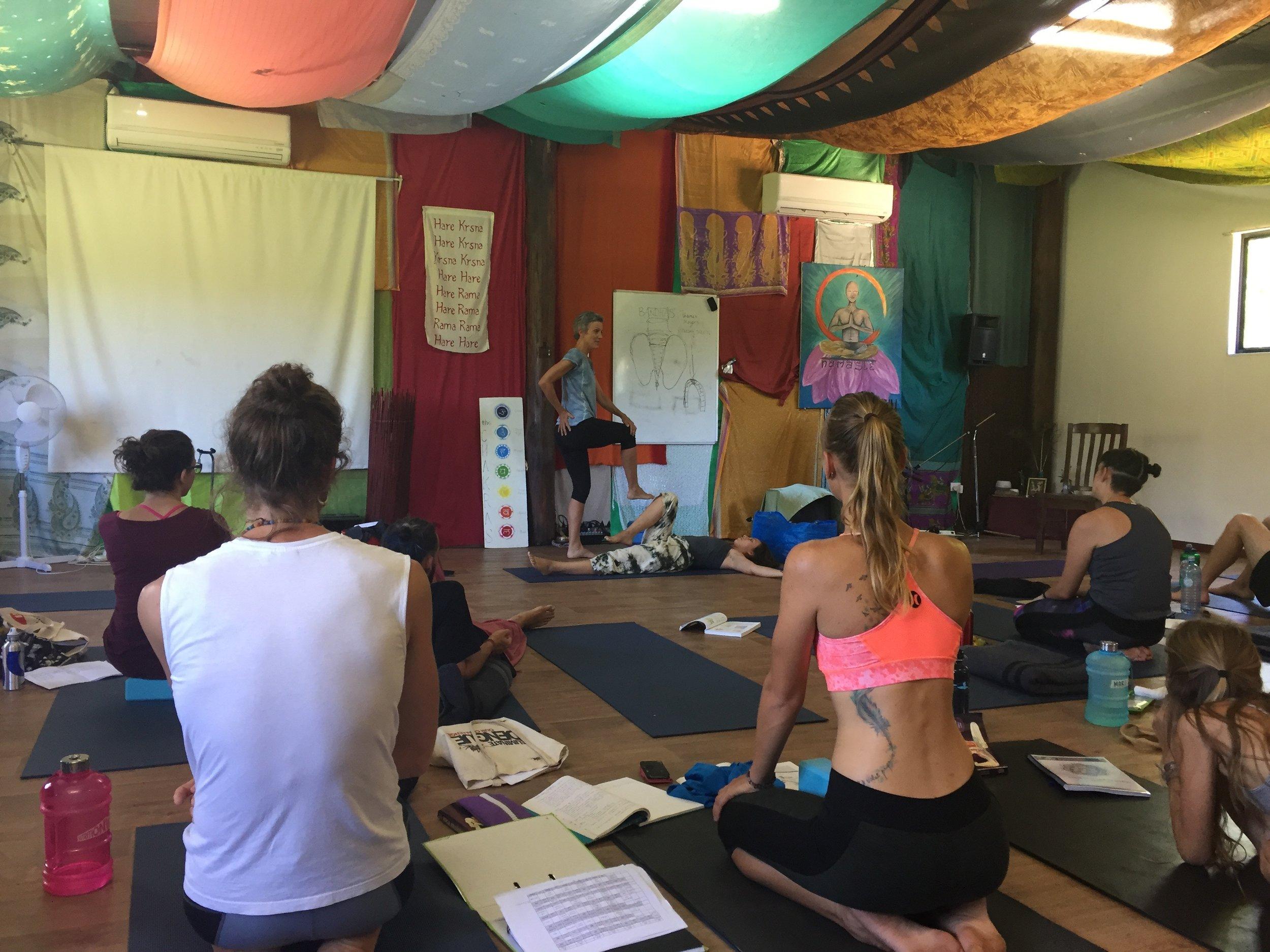 Yoga Anatomy class - everyone loves Maria!!!