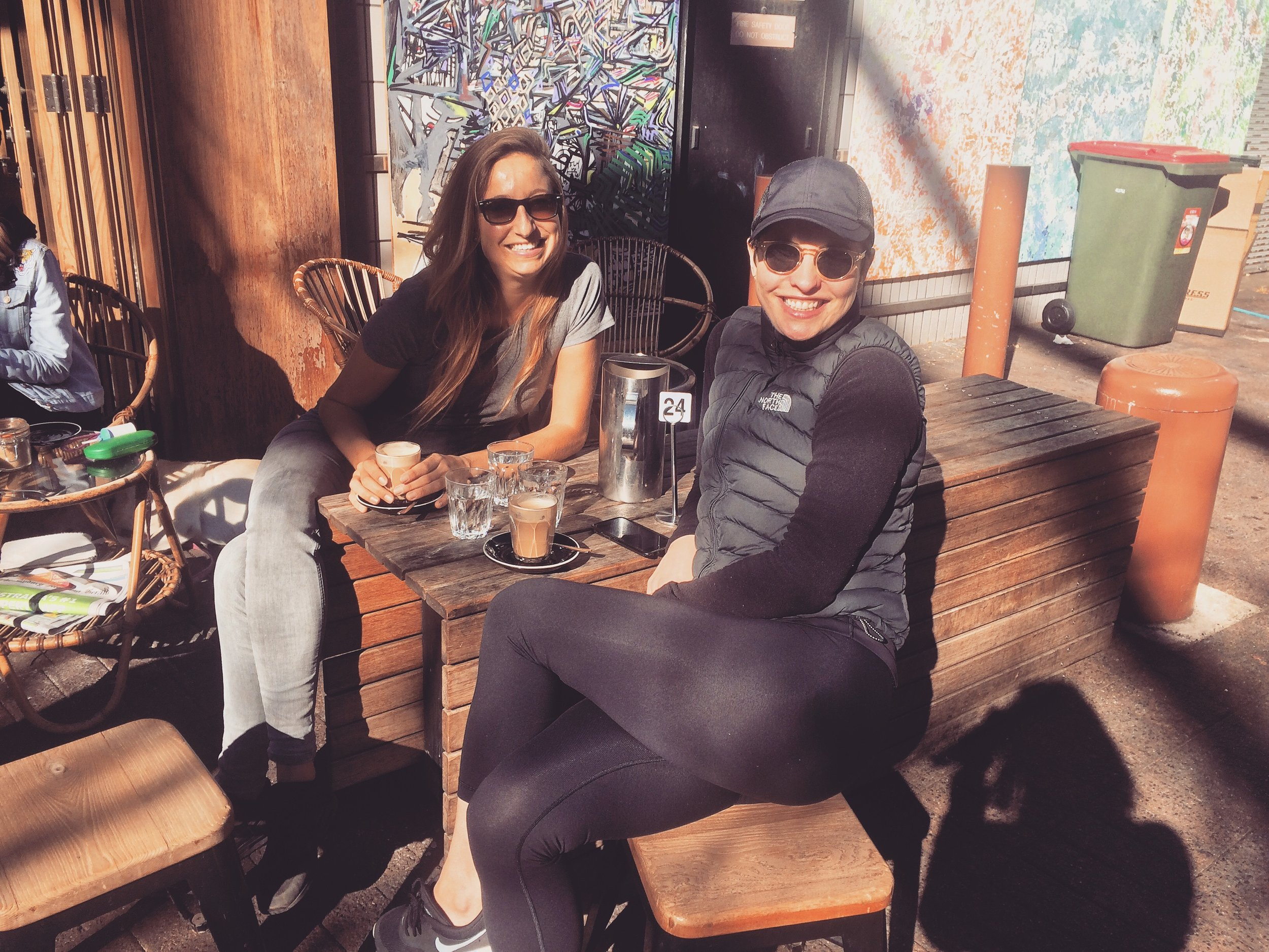 Coffee with Dominica (who did the previous YTT) in Manly, on the Northern beaches of Sydney