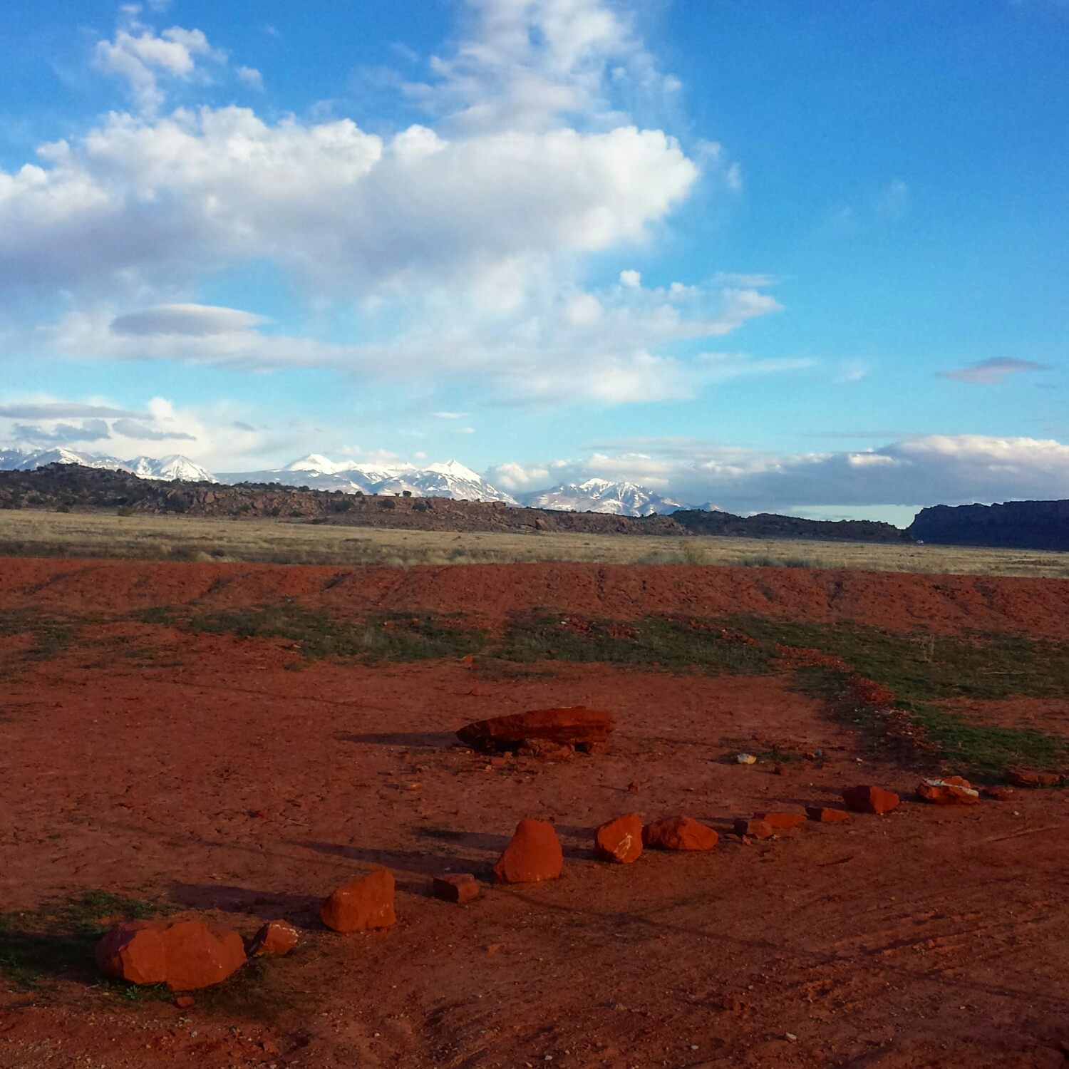 Moab, Utah showing off a little desert with a little snow. Photo: Brian