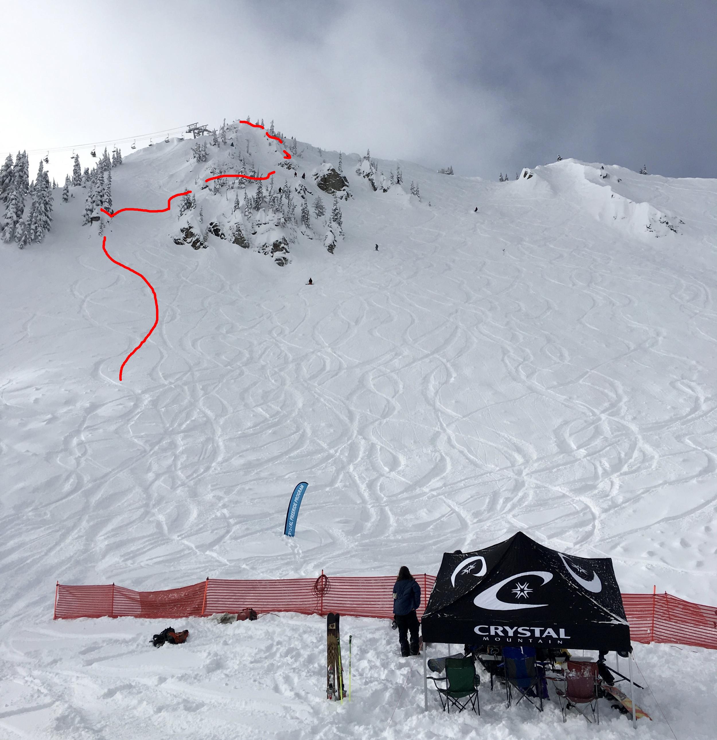 Bottom of Qualifier Venue    (Day 1)  Northway Peak