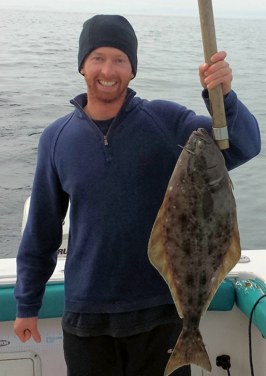 Brian holding this beauty of a halibut  Photo: Zach