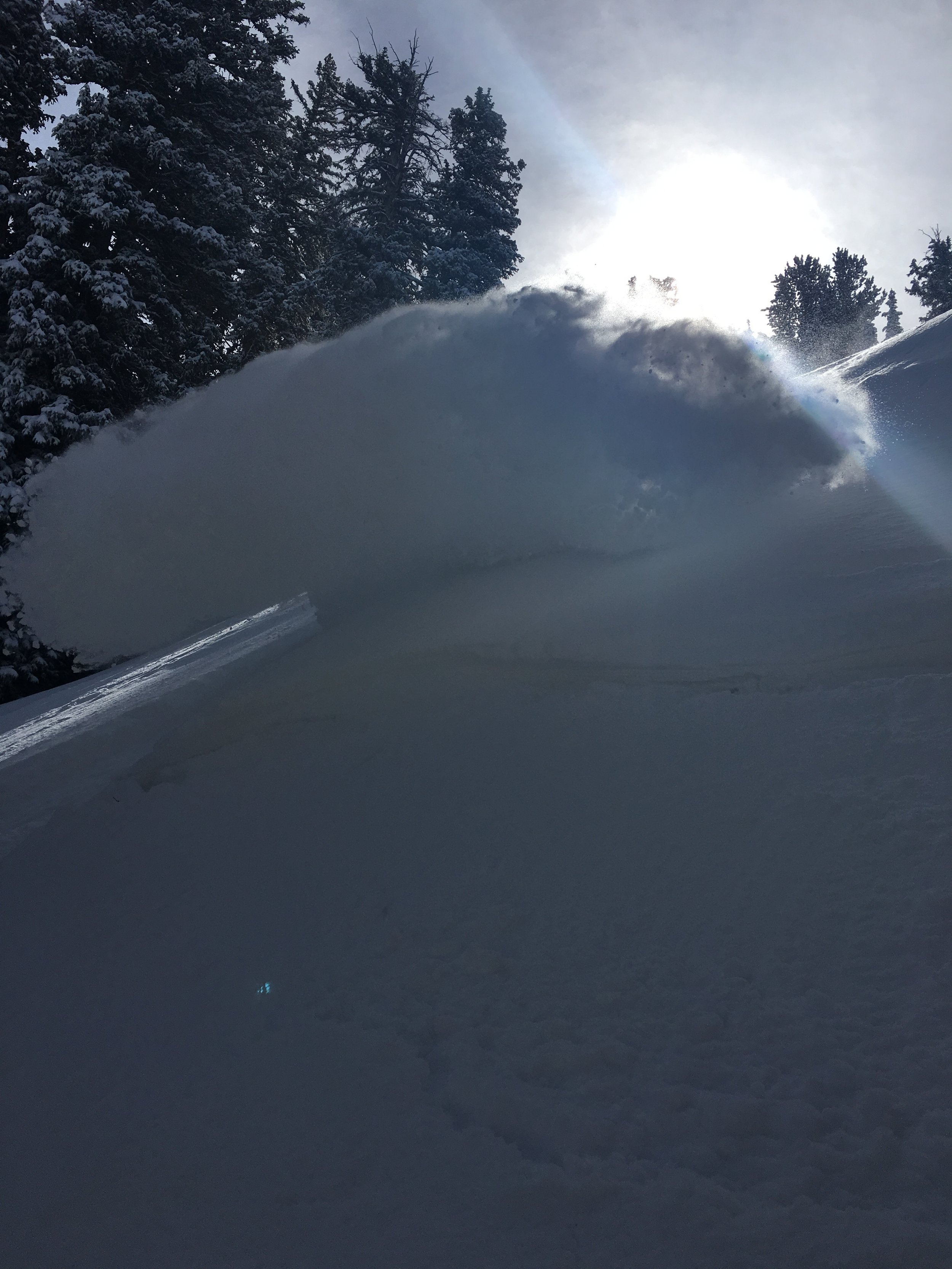 Photo: Absolutely smashing pow a top Argenta on the first few turns in blower pow  Photo: Ryan Irvin