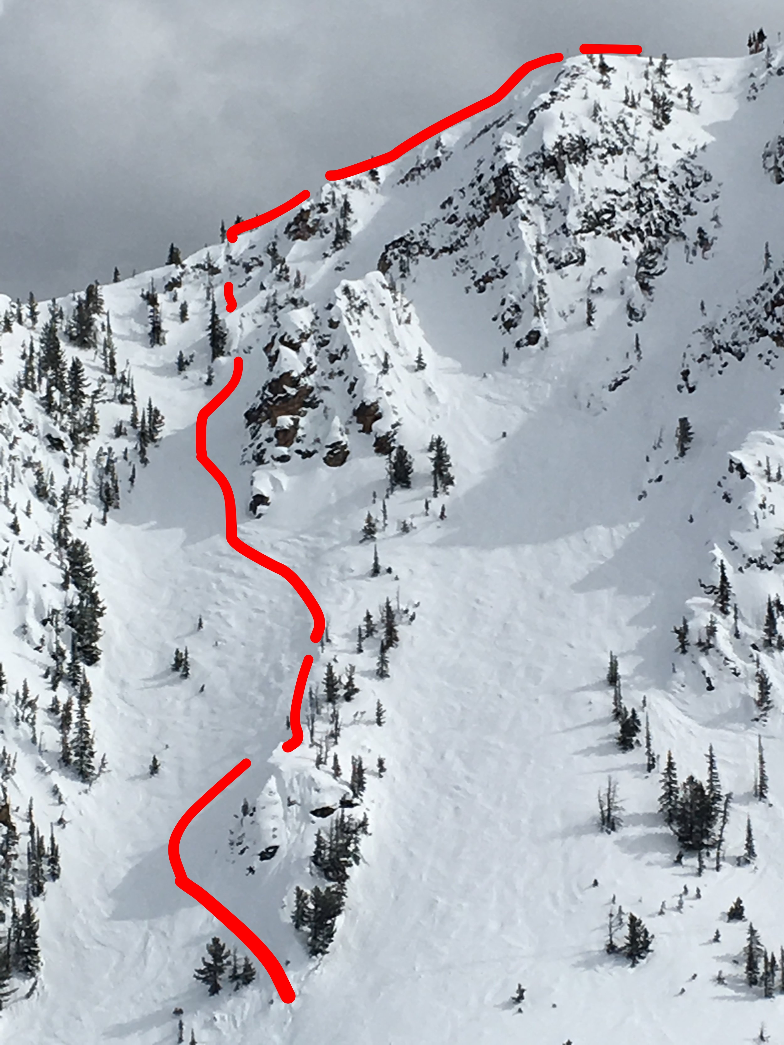 """Zach Husted's Qualifier run down Terminator 1 North Face """"Truth and Dare"""".  Photo: Zach Husted"""