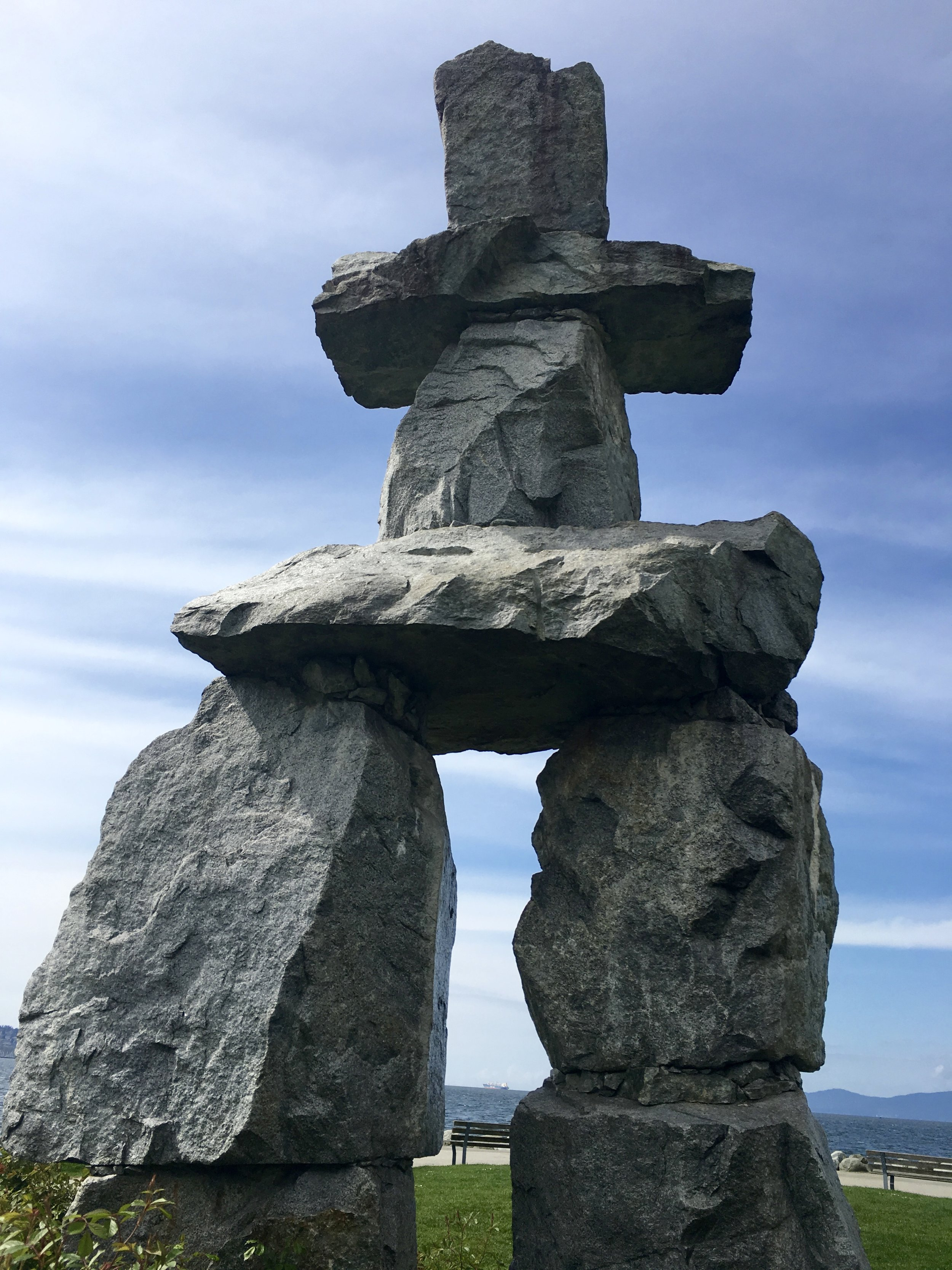 THE inukshuk Statue in Vancouver, BC  Photo: Zach Husted