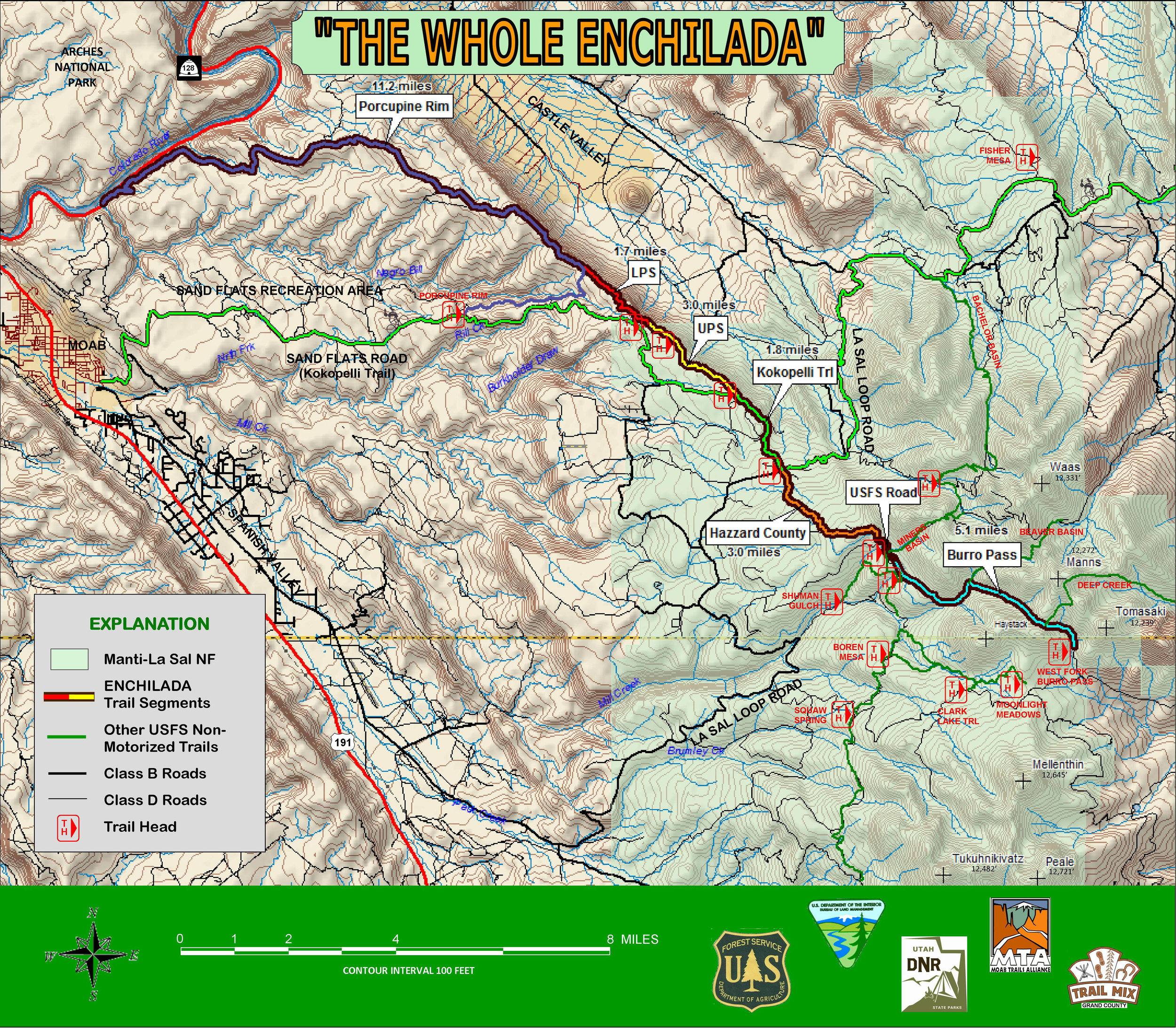 The Whole Enchilada Trail Map