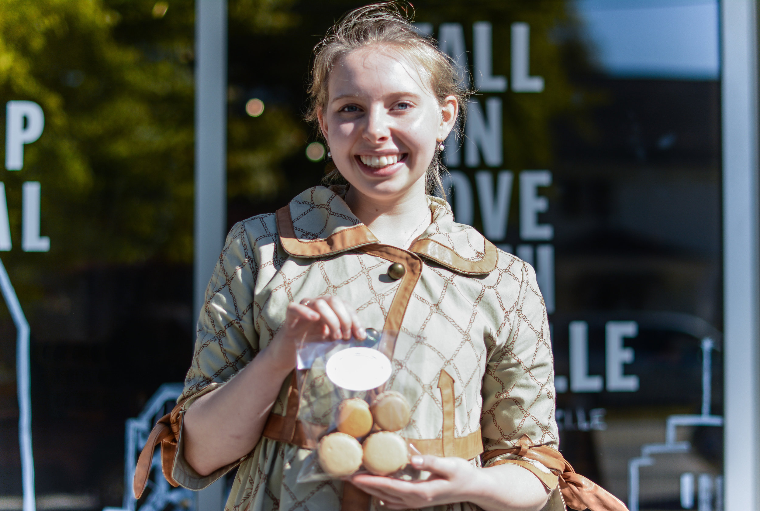 Ciel Smith shows off her own macarons, and her new company, Patisserie De Ciel.