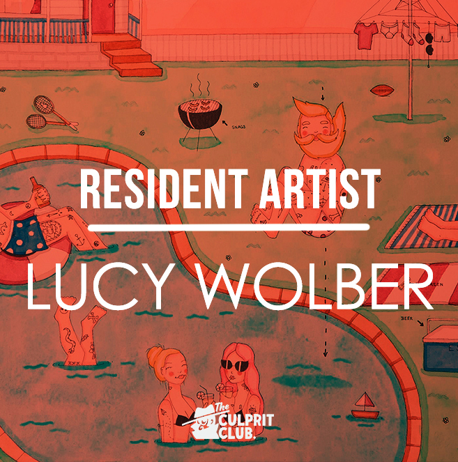 lucy wolber the culprit club brisbane art resident artist
