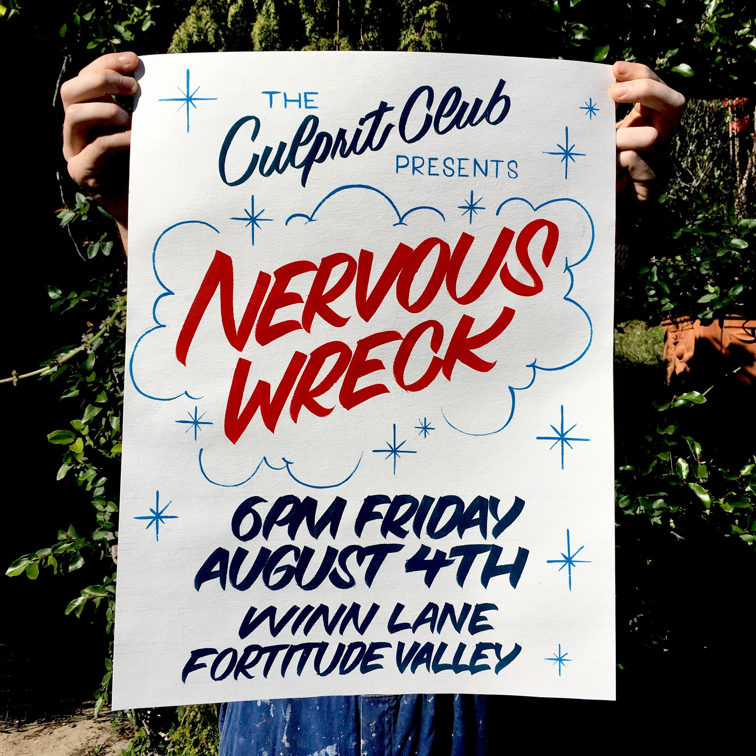 the culprit club nervous wreck joe o'toole brisbane fortitude valley hand type sign writing