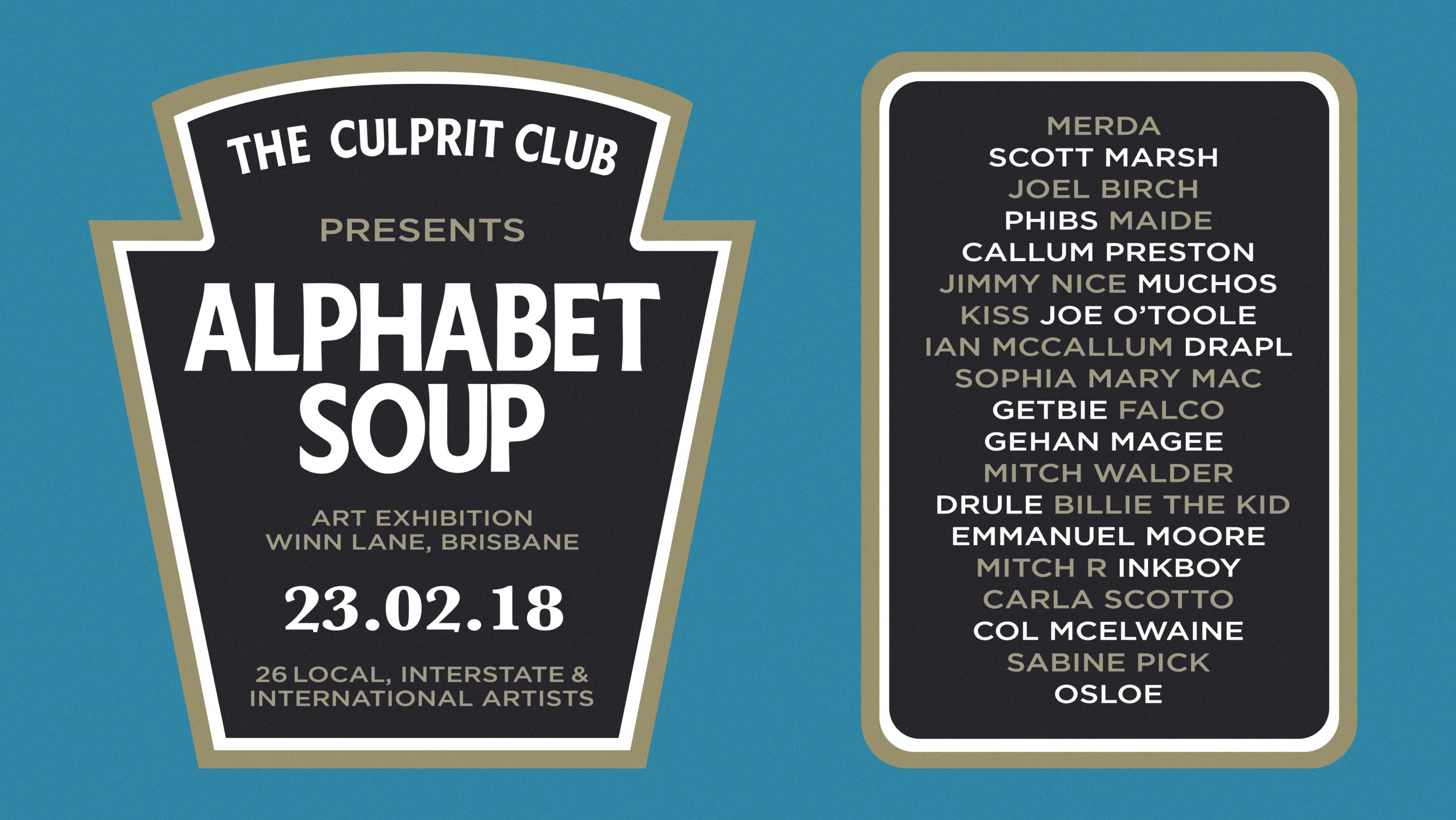 Alphabet Soup The Culprit Club Brisbane Art Show.png