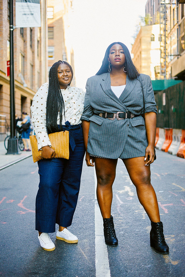 3. PLUS SIZE STREET STYLE. - Here I am with @supplechic captured by @simonzchetrit for manrepeller.com
