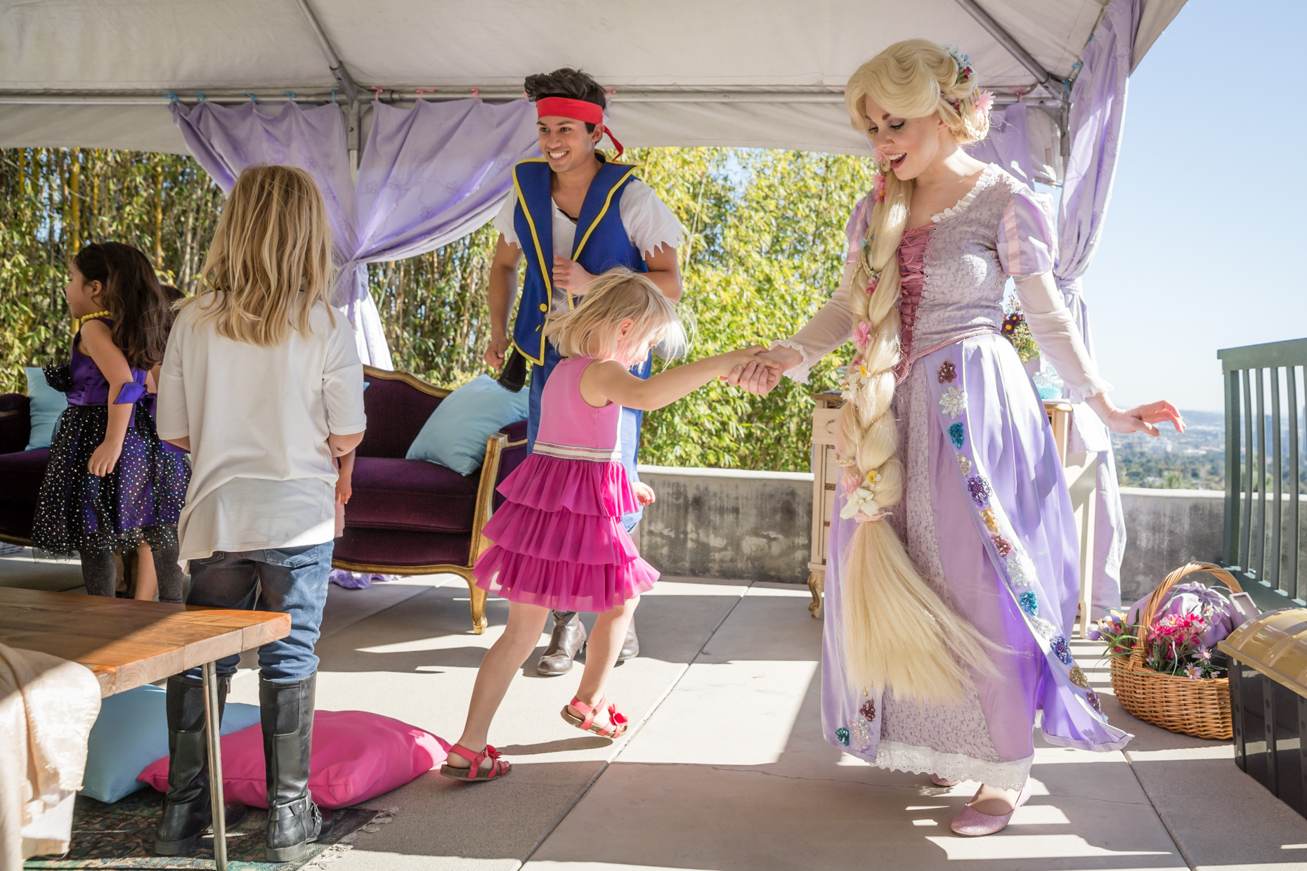 Rapunzel is so glad she left her tower; there's too much dancing, and singing, and painting, and partying to do!