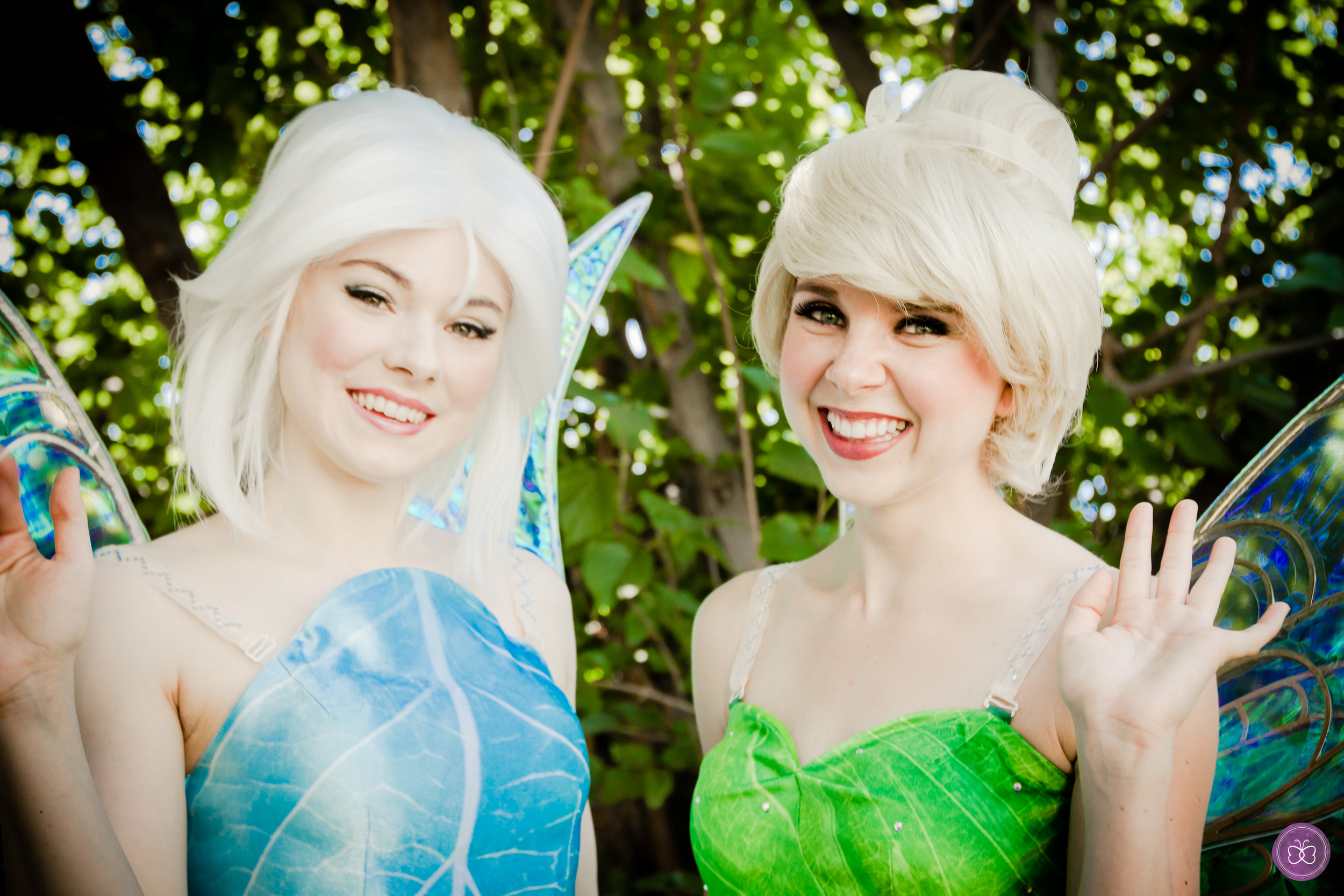 "The green fairy, Tinker Bell, and her sister, the Frost Fairy, are nearly inseparable now that they've met. Invite both pixie siblings for a ""fairy"" magical experience."