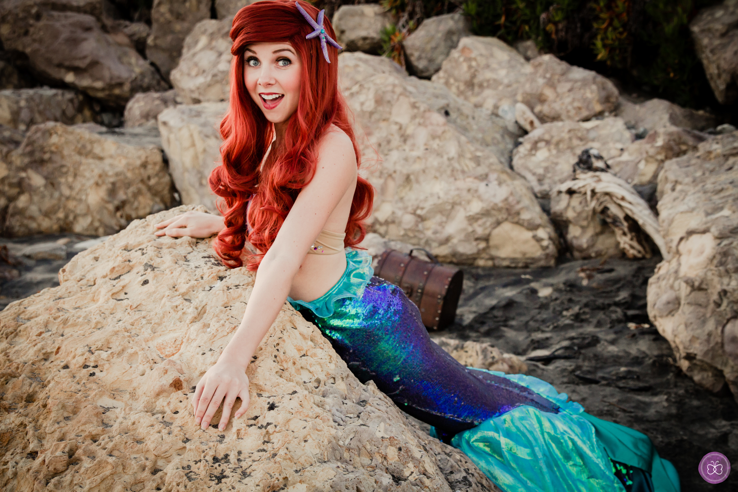 For your 'Under the Sea' themed princess parties, we also have a beautifully realistic Little Mermaid character experience. Walkable fin with no visible feet or legs!