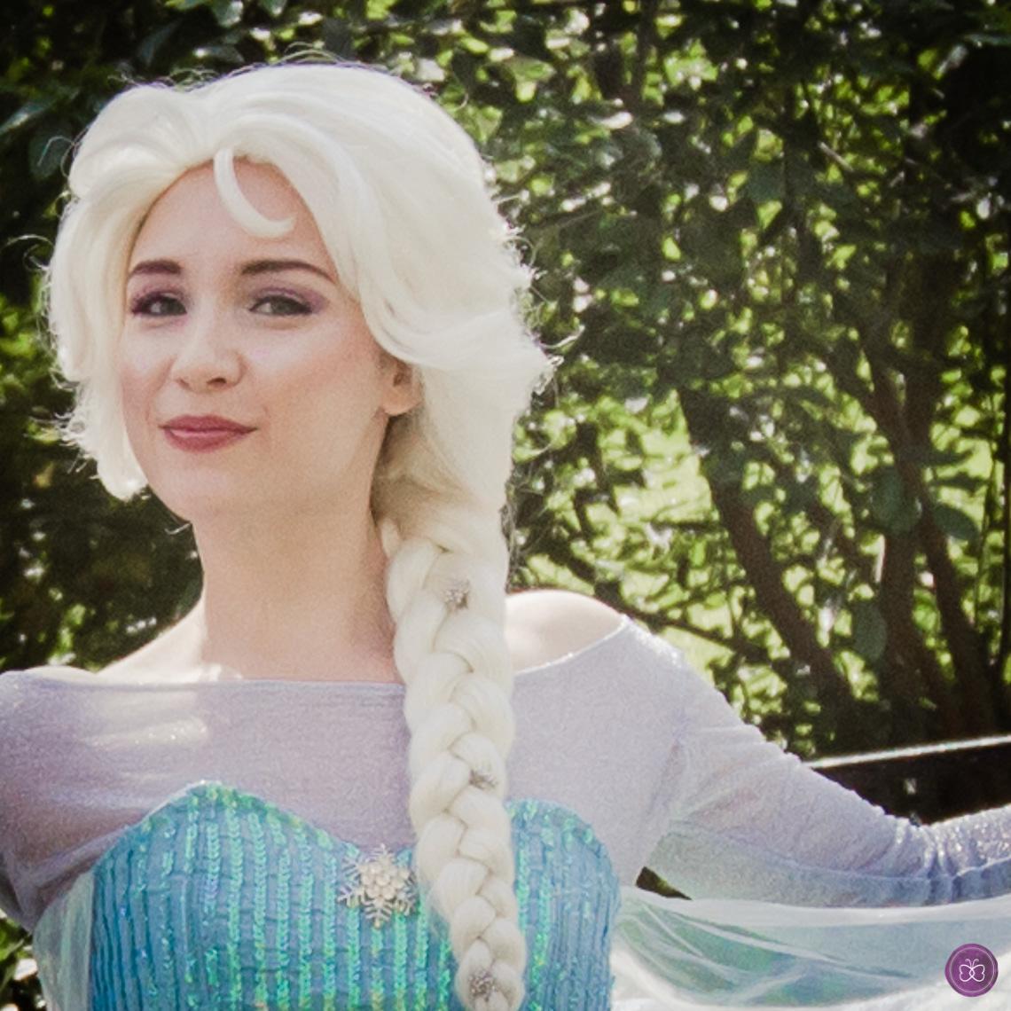 Snow Queen Elsa Frozen party character Los Angeles