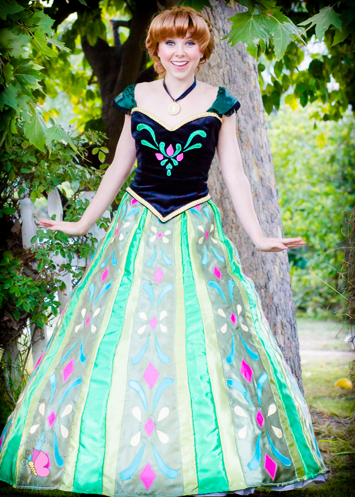 Princess Anna character Los Angeles coronation gown