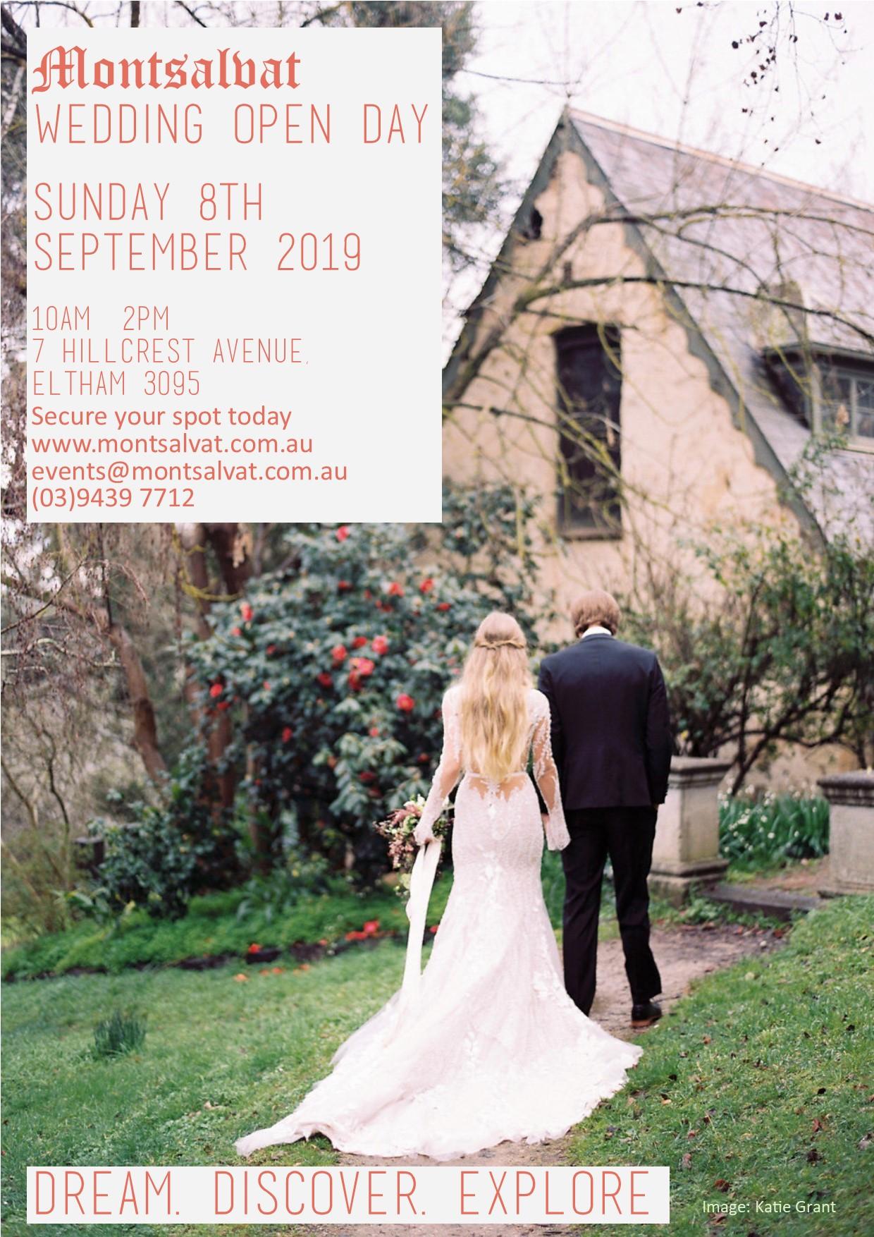 Montsalvat wedding open day 2019