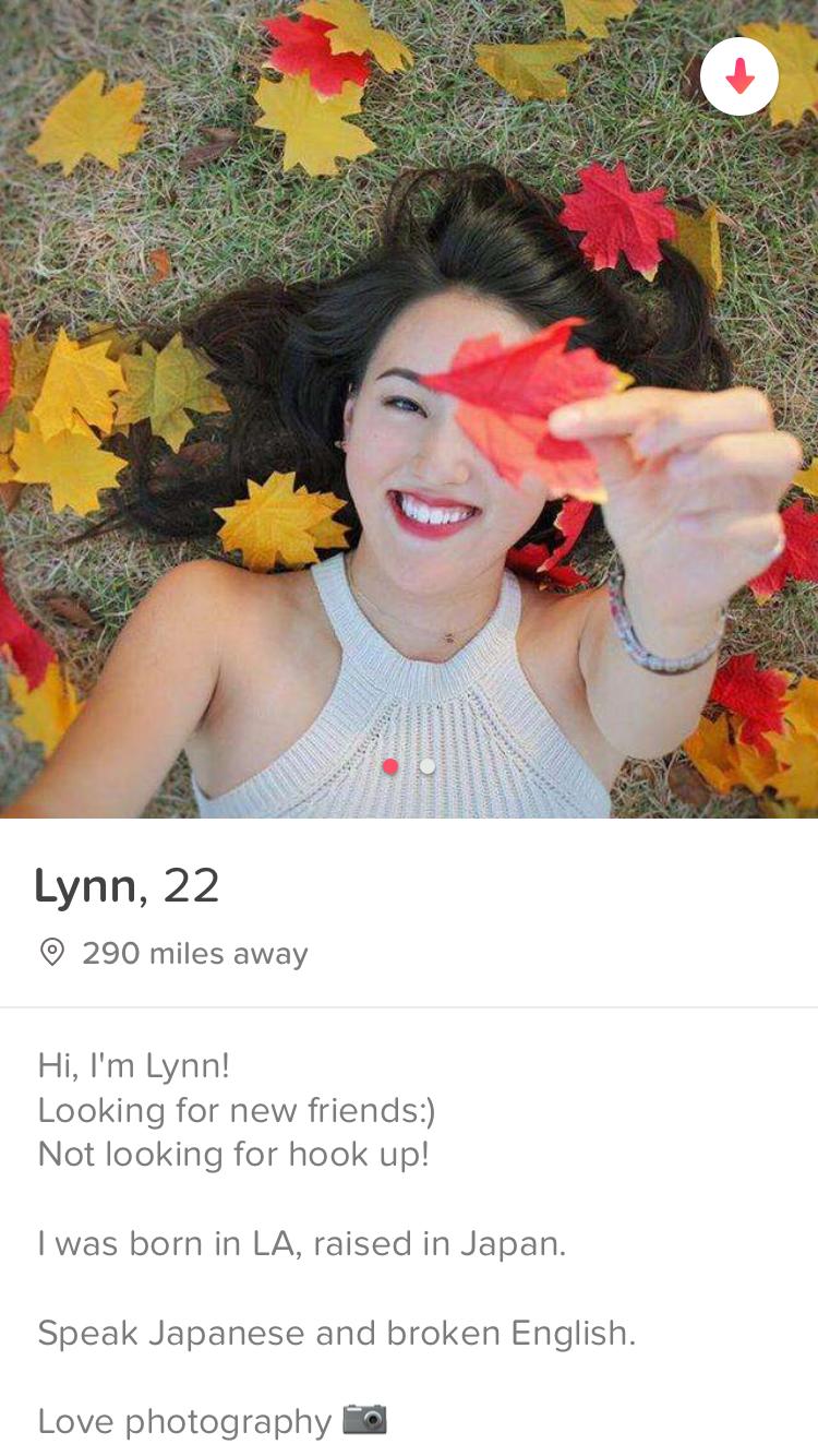 Tinder profile girl
