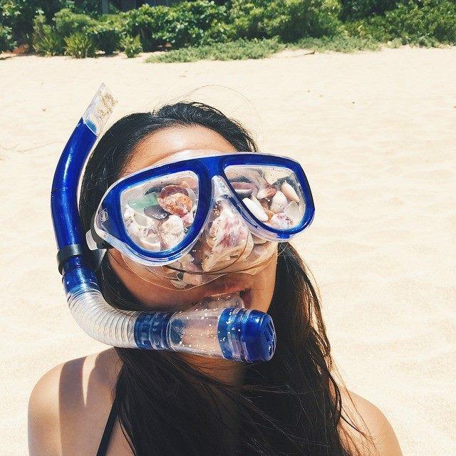 Jackie Moani Beach Shells Goggles Snorkel