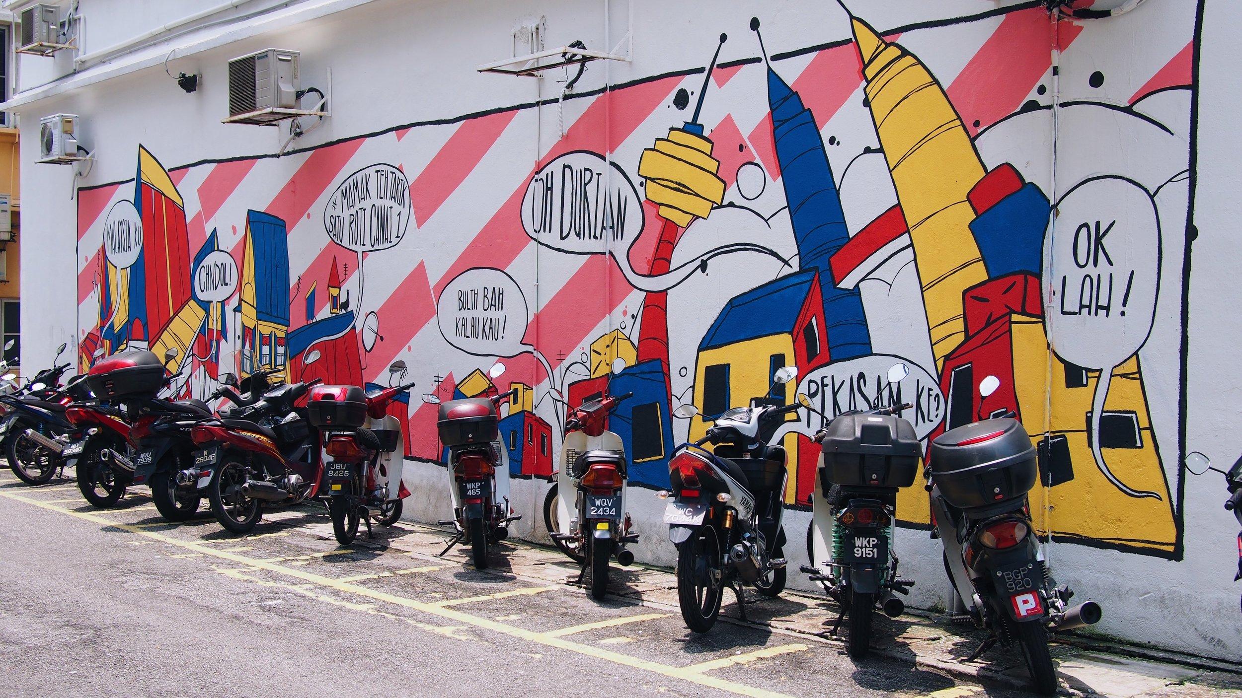 Street art in Kuala Lumpur, Malaysia