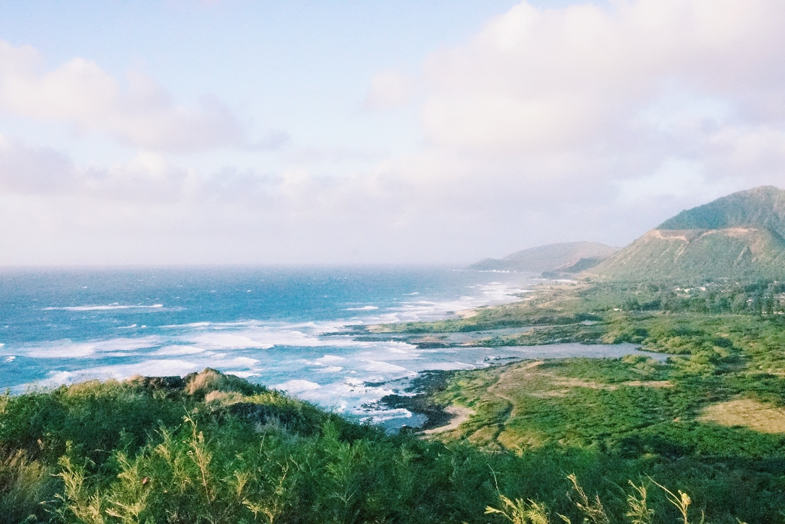 The view of the back of Koko Head Crater on Oahu