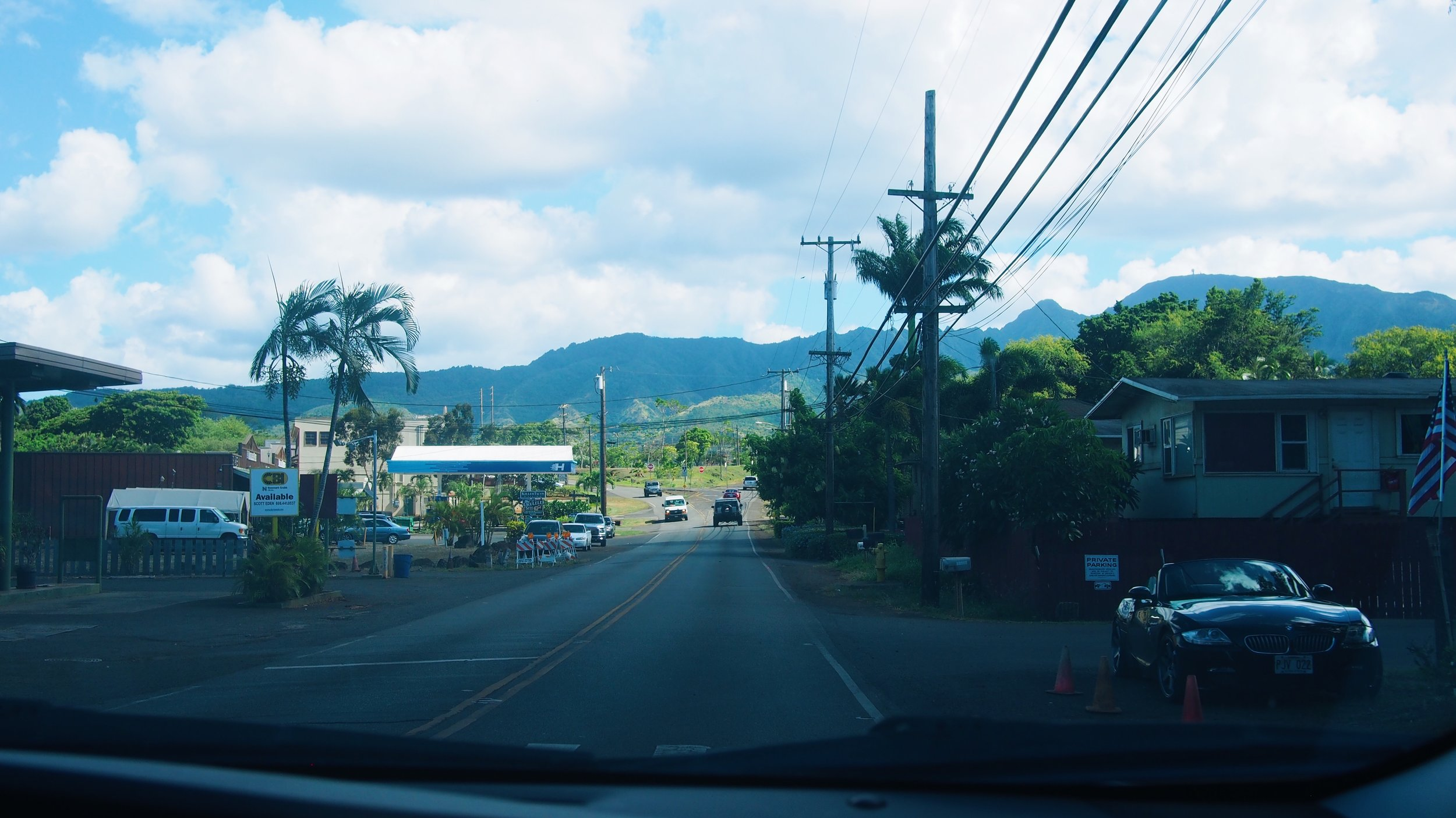Mountains on the north shore of Oahu
