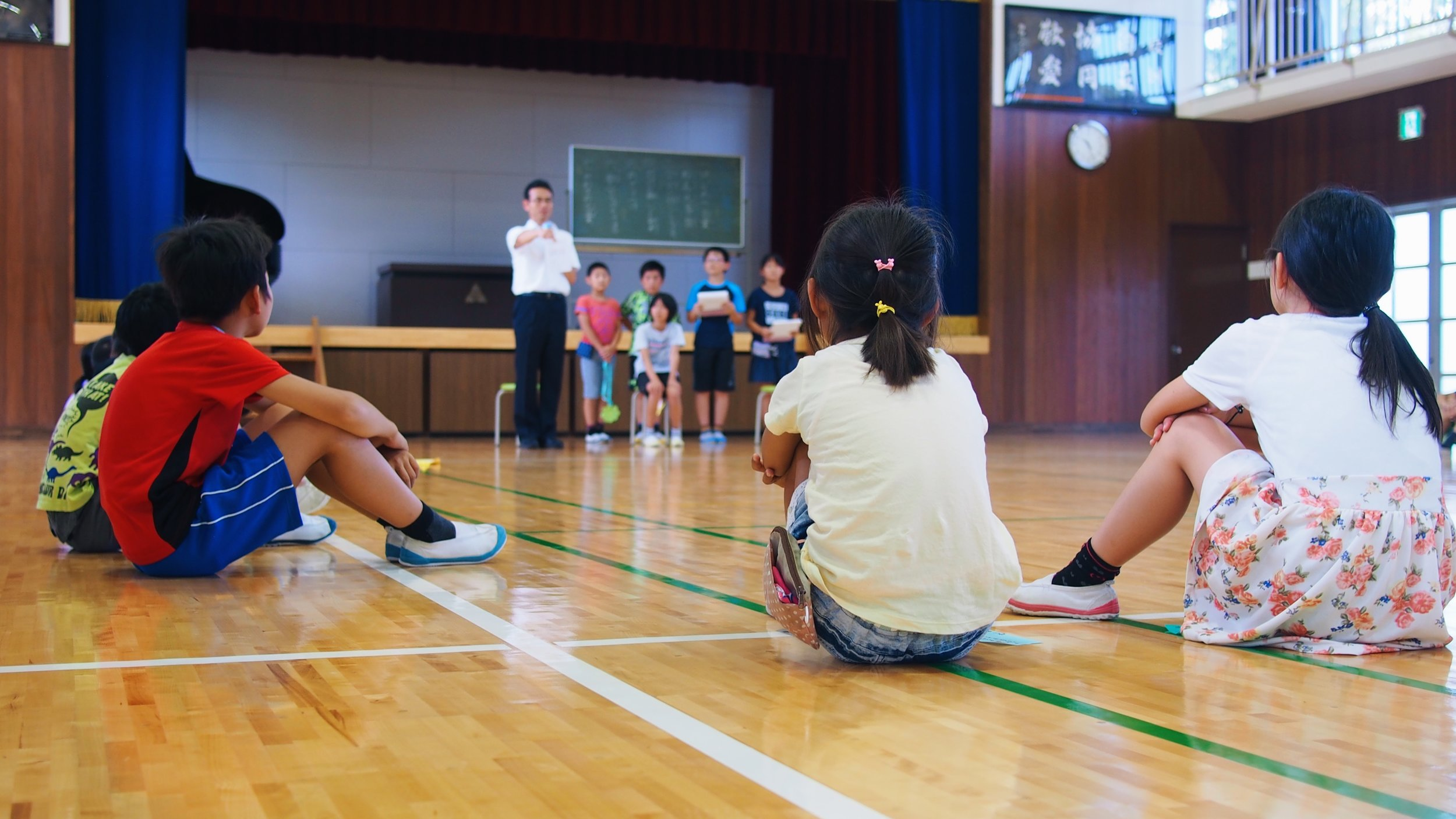 Japanese elmentary school students