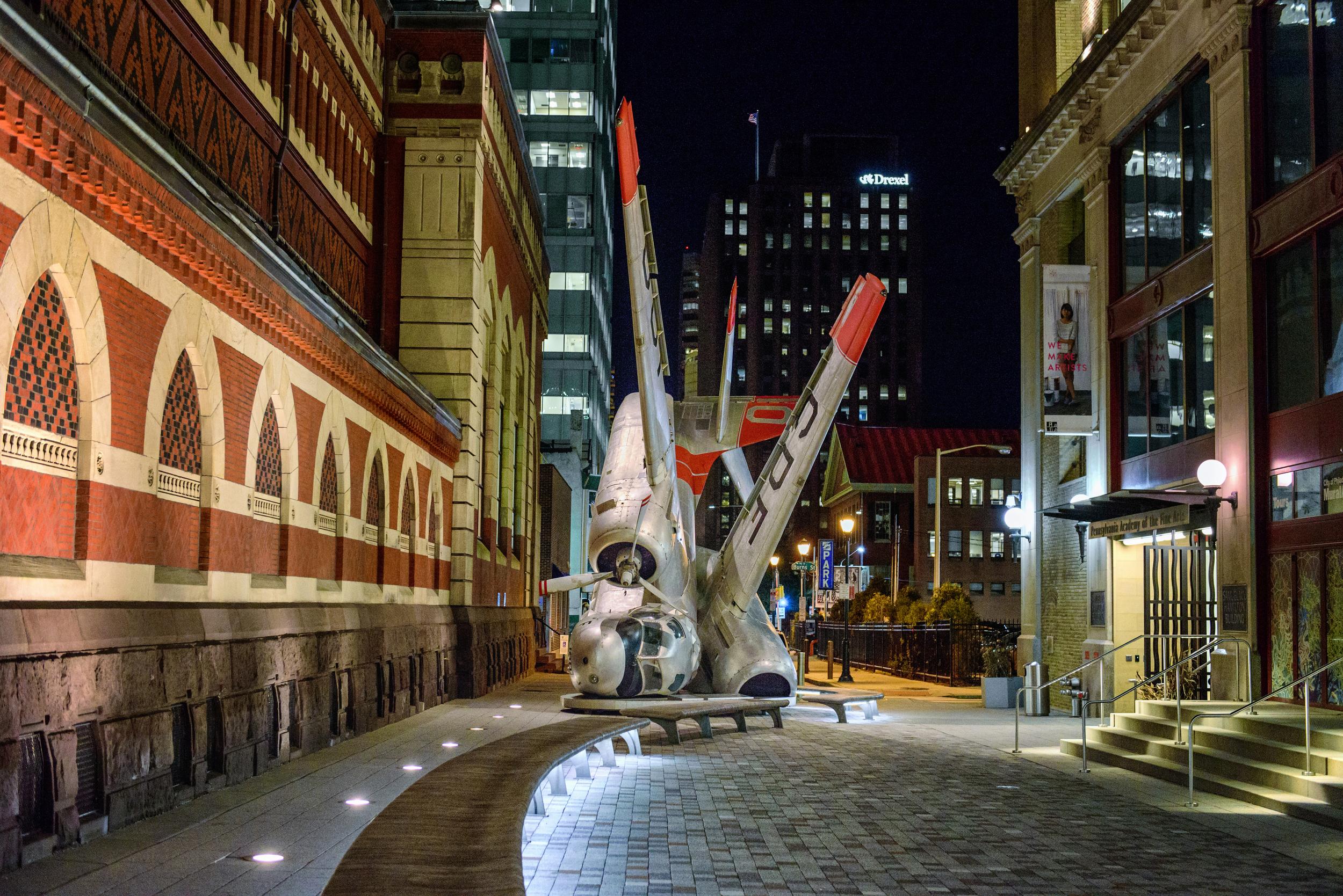 Art installation at Pennsylvania Academy of the Fine Arts, Philadelphia, Pennsylvania