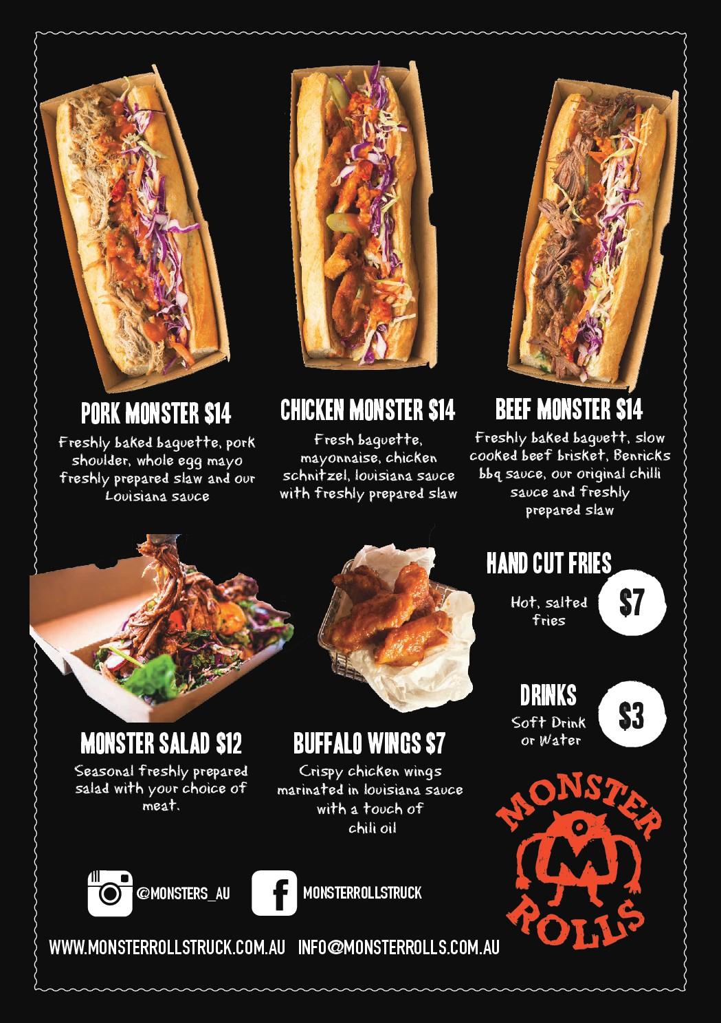 Monster Rolls Food Truck