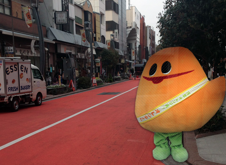 Because if you're going to name your street, Orange Street, you better have a mascot, too.