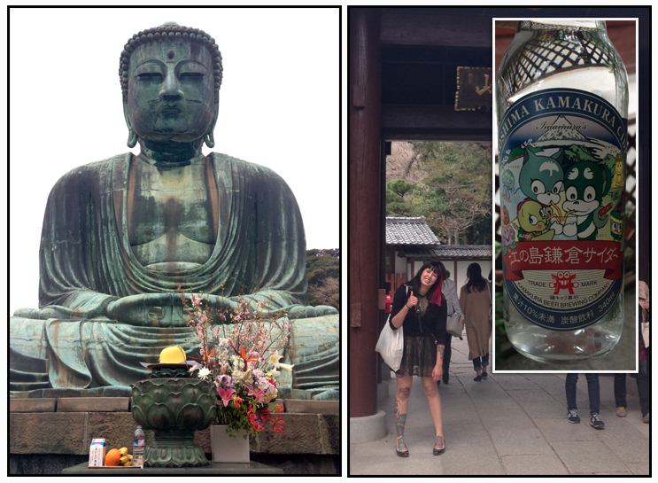 Click  here  to see me knocking on Buddha. Also, are they trying to encourage underage drinking with cute animals??