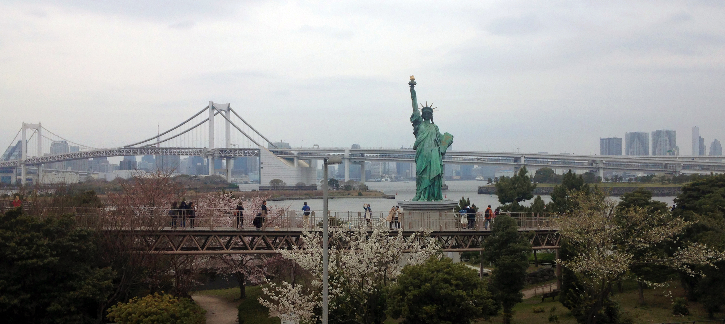 The closest I've ever come to seeing the Statue of Liberty was in Japan.
