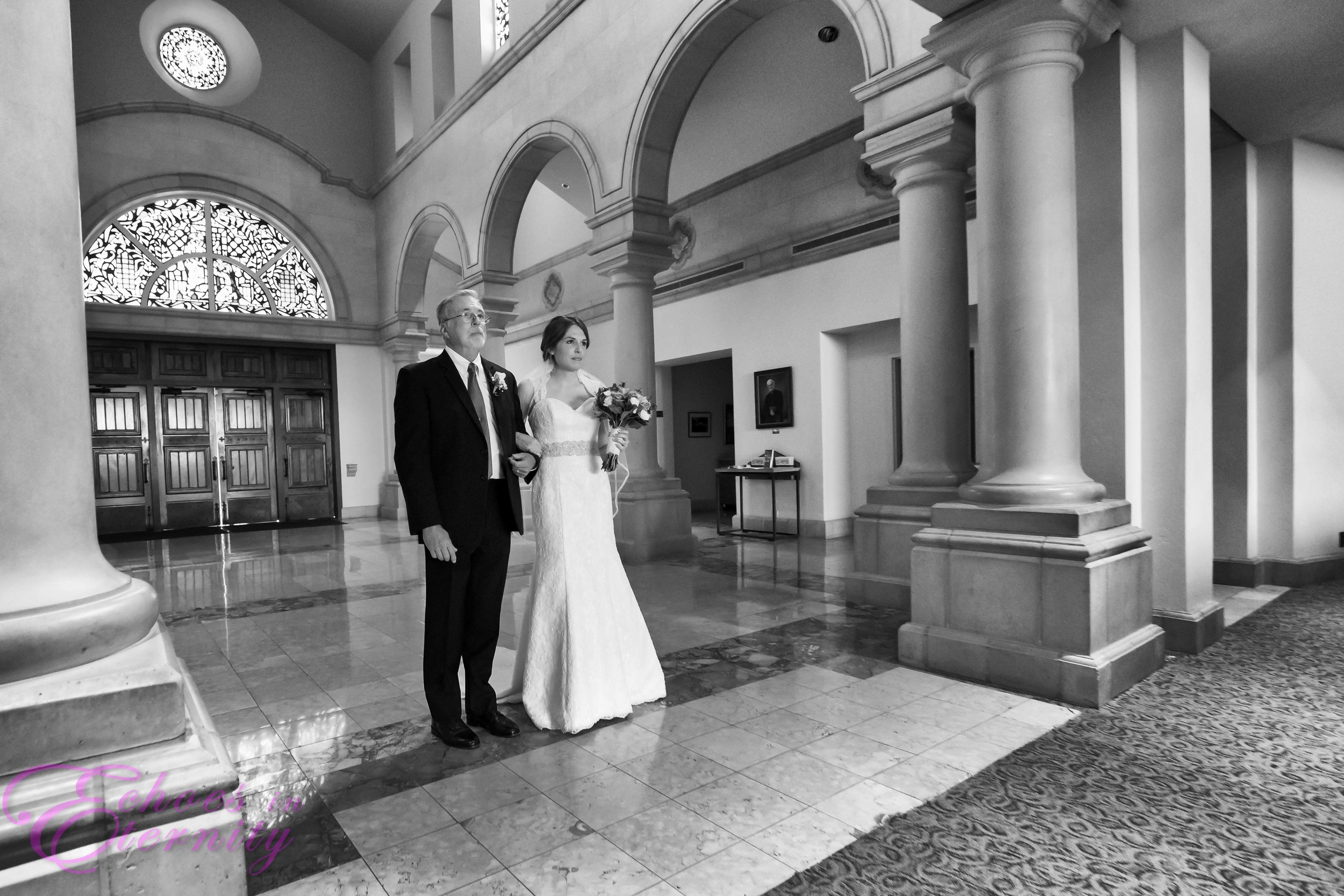 05 Bride and father walking down aisle Tucson Arizona Weddings.JPG