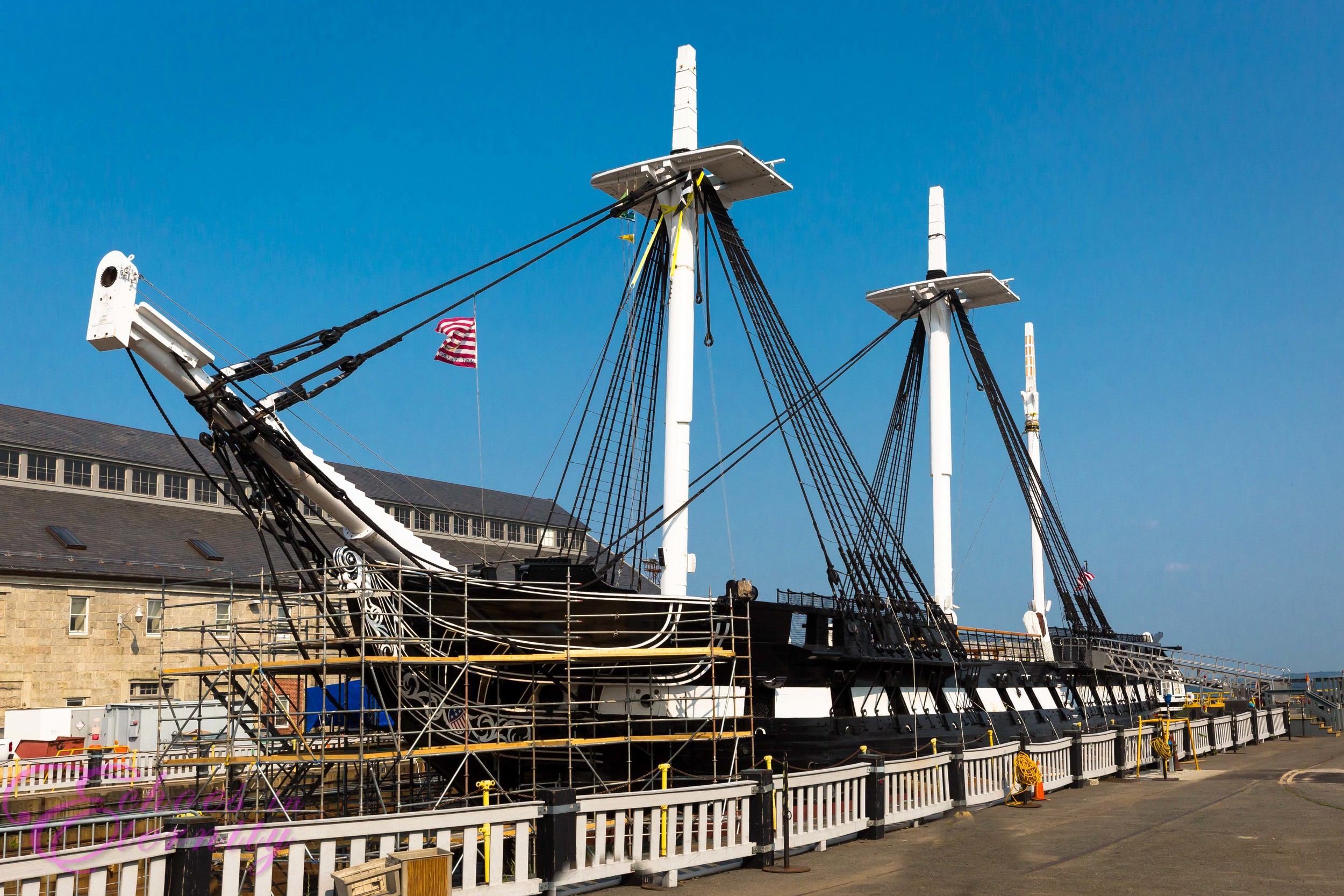 USS Constitution Charlestown Navy Yard Boston Harbor