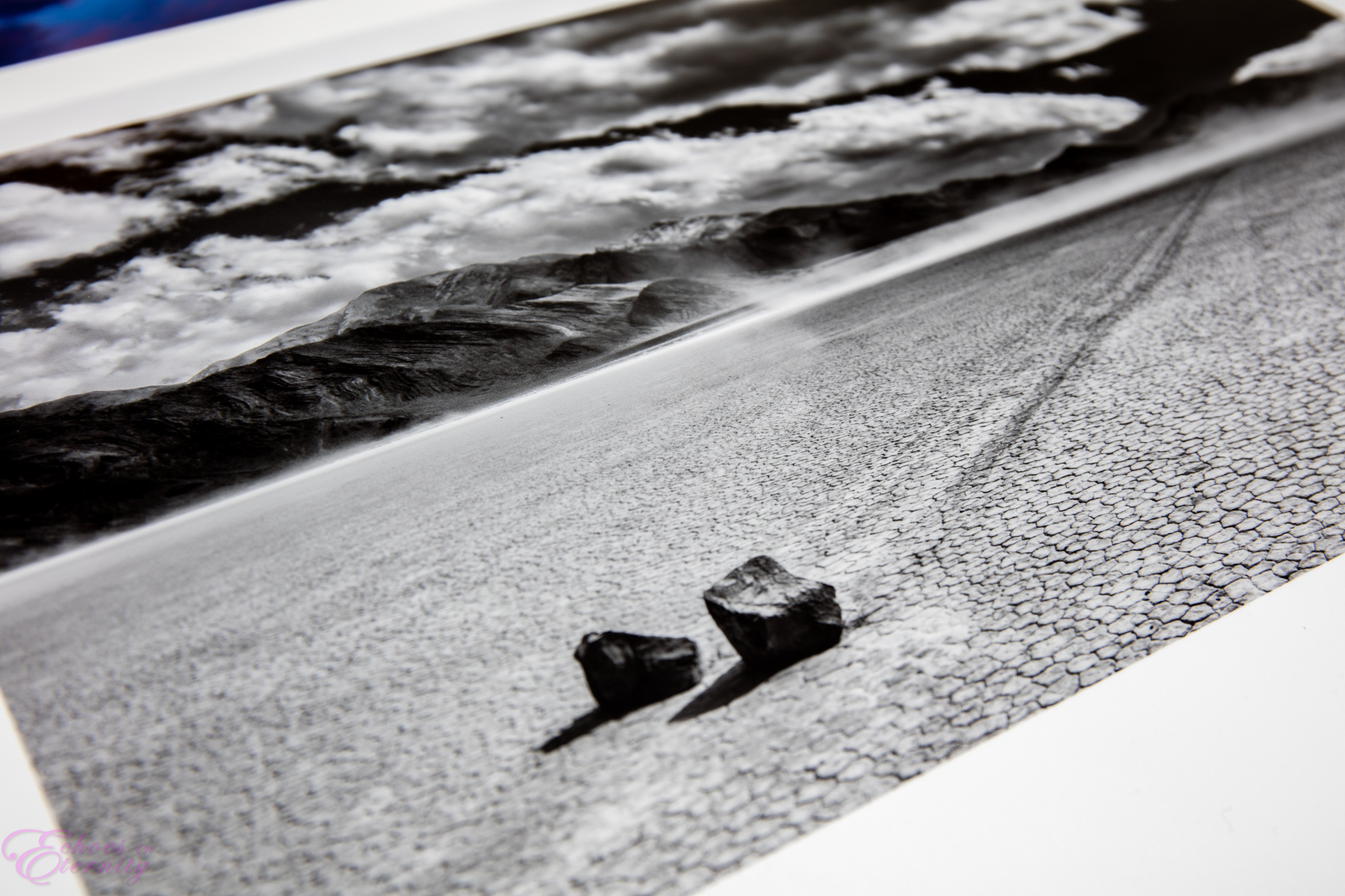 Time Immemorial 1189.  An infrared image of The Racetrack Playa in Death Valley National Park, printed on Fine Art Baryta paper. Baryta's name comes from barium sulphate, which coats the paper to emulate the feel and finish of traditional darkroom prints. It is quickly becoming my favorite printing paper.