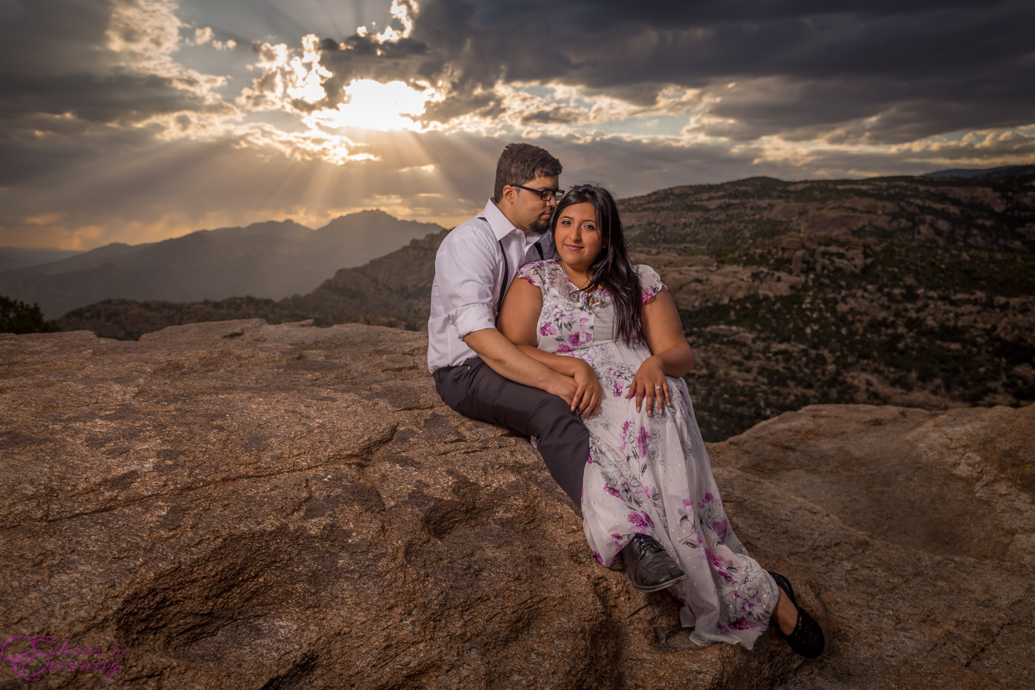 Zach and EJ Tucson Wedding and Engagement Photographer Mt. Lemmon Windy Point 17.jpg