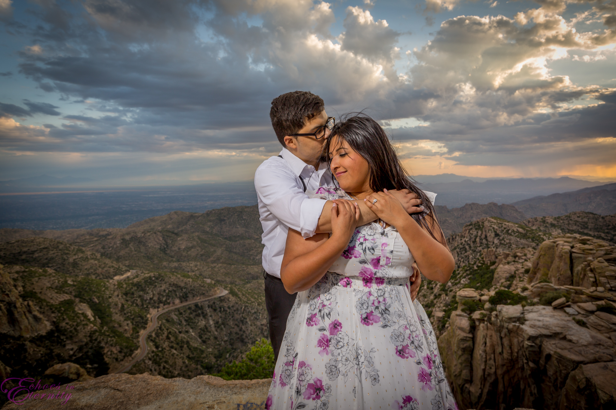 Zach and EJ Tucson Wedding and Engagement Photographer Mt. Lemmon Windy Point 20.jpg