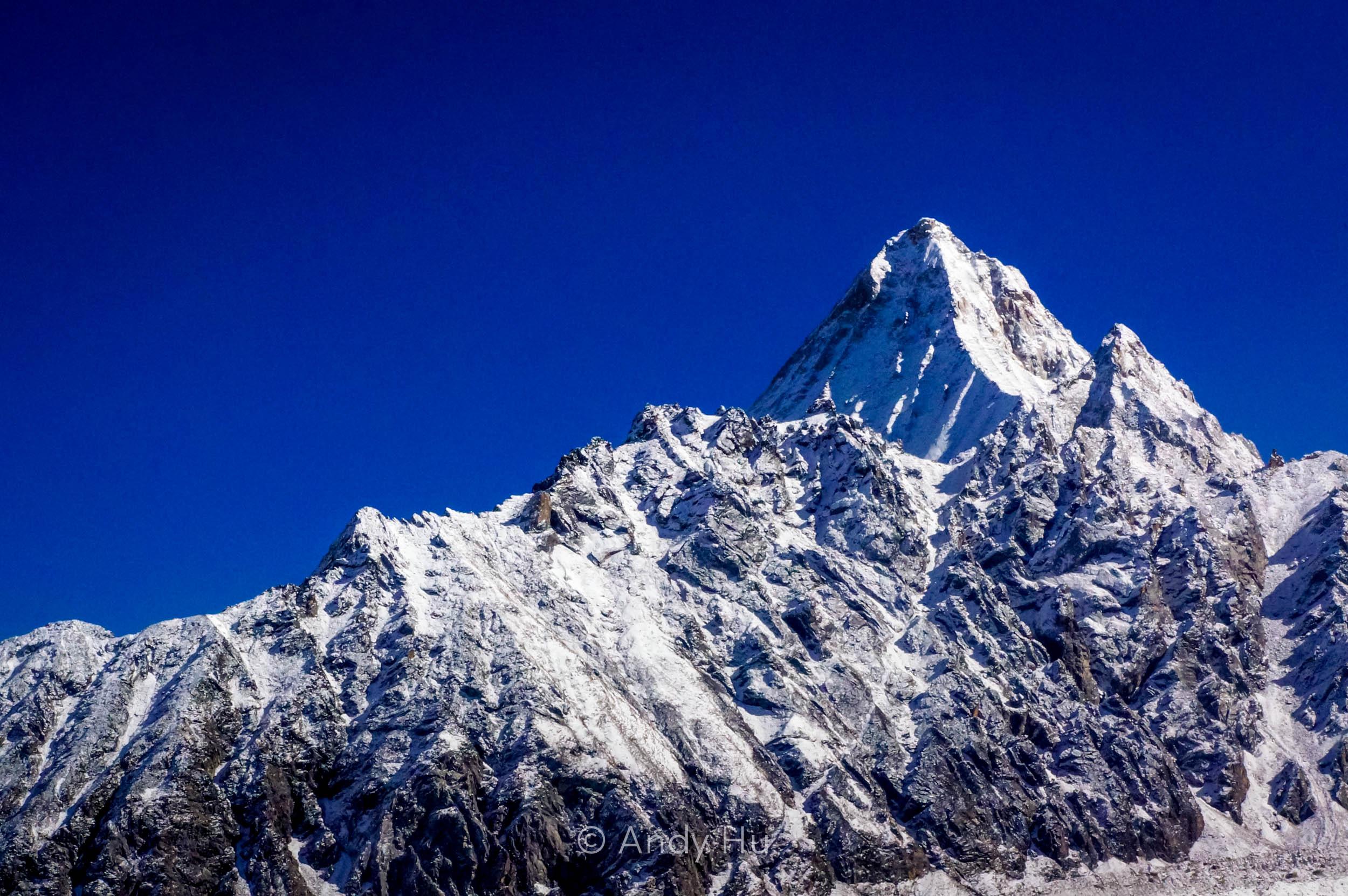 Snow capped peak, Mt. Gongga Trek