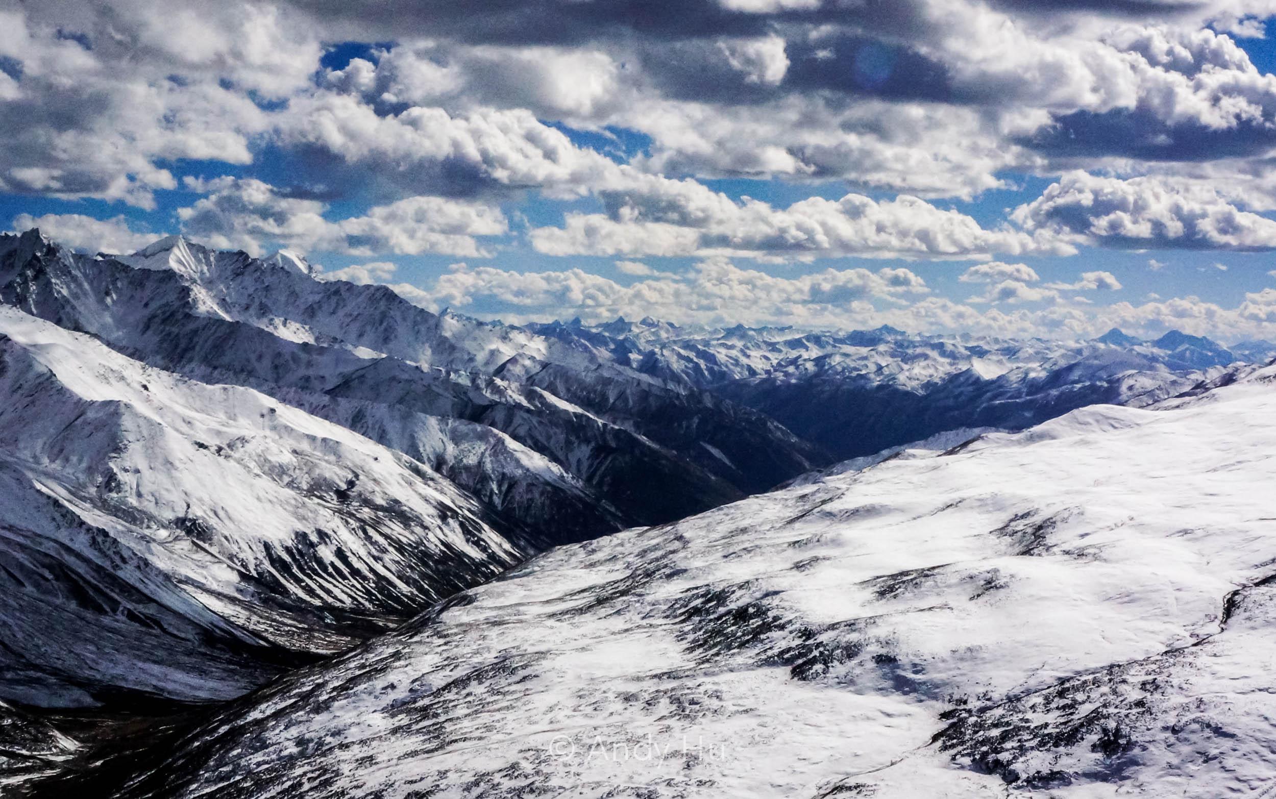 View from Riwoche Pass, Mt. Gongga Trek