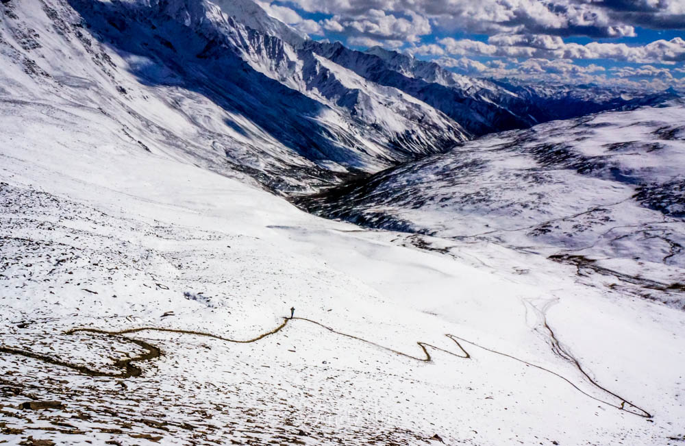 Over Riwoche Pass, Mt. Gongga Trek