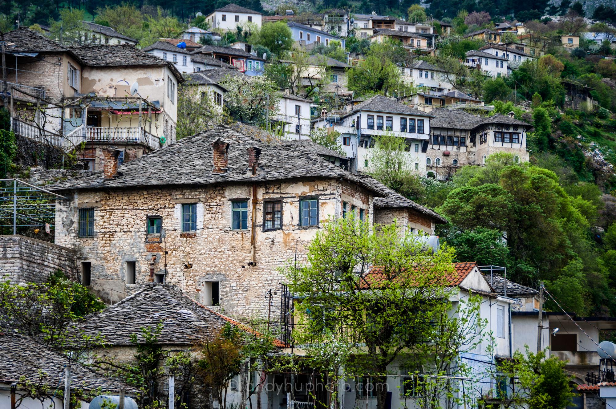 Stone houses, stone walls, stone chimneys