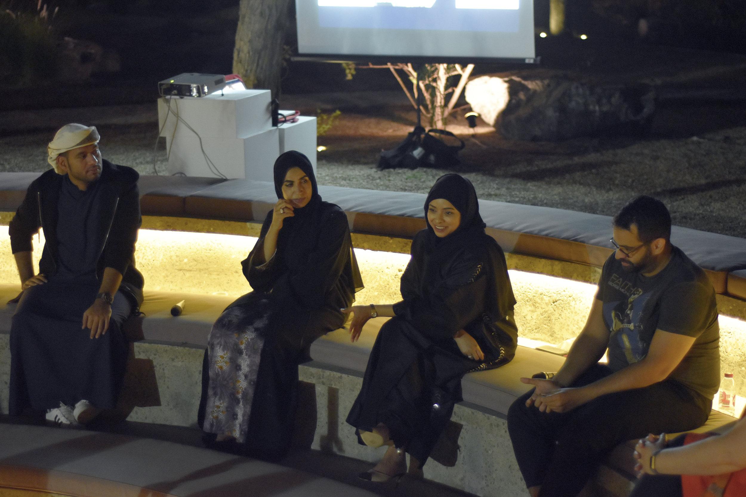 Tashkeel Talk with Saeed Al Madani, Dr. Karima Al Shomaly, Salama Nasib and Khalid Mezaina. Image courtesy of Tashkeel 5.jpg