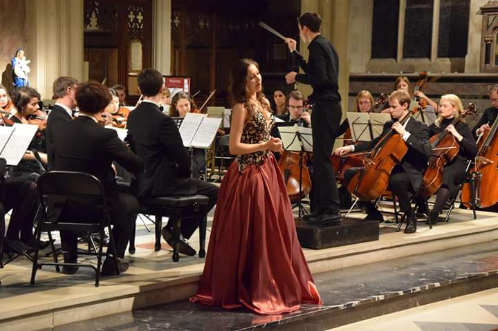 On stage with King's Chamber Orchestra, December 2015.