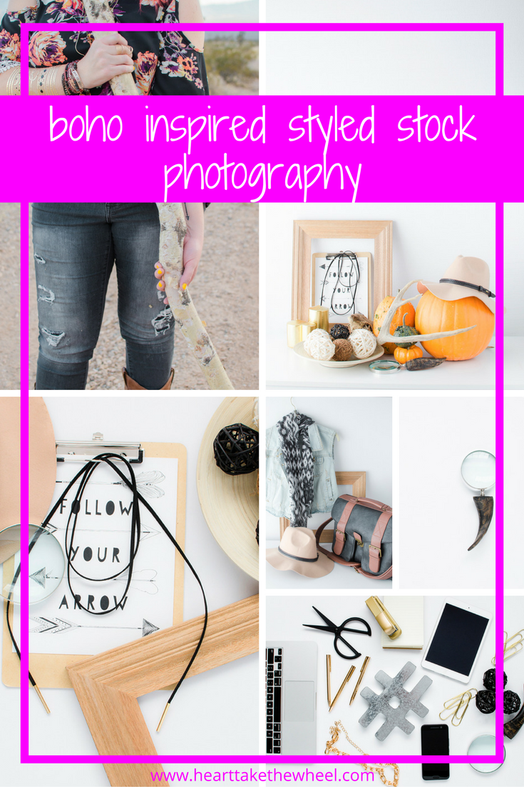 Need Boho Stock Photos? Heart take the Wheel just created a batch for her $10/mo membership site!