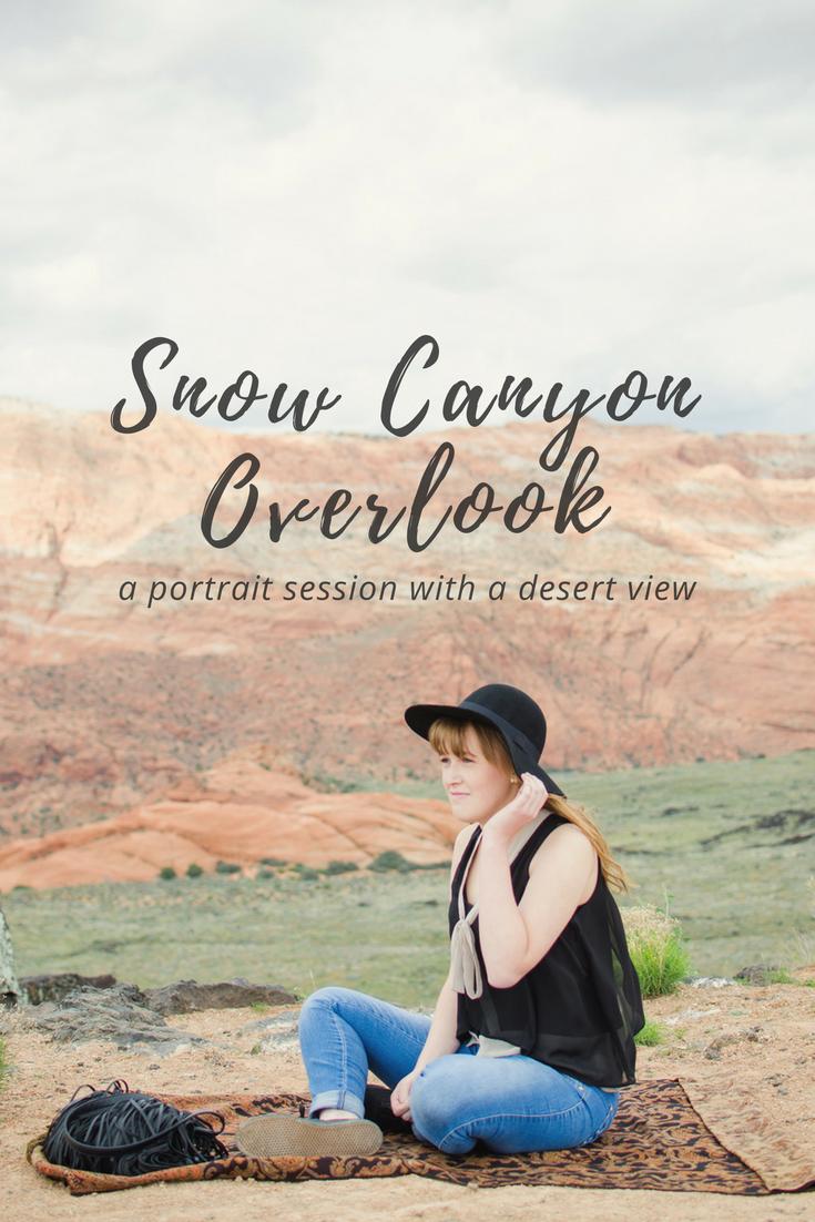 Snow canyon overlook boho desert branding photo www.httw.co