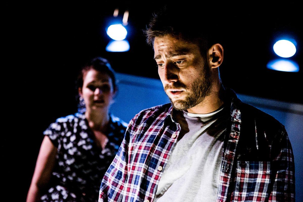 Michael Socha as 'Michael' in 'This Is Living',Trafalgar Studios, 2016.