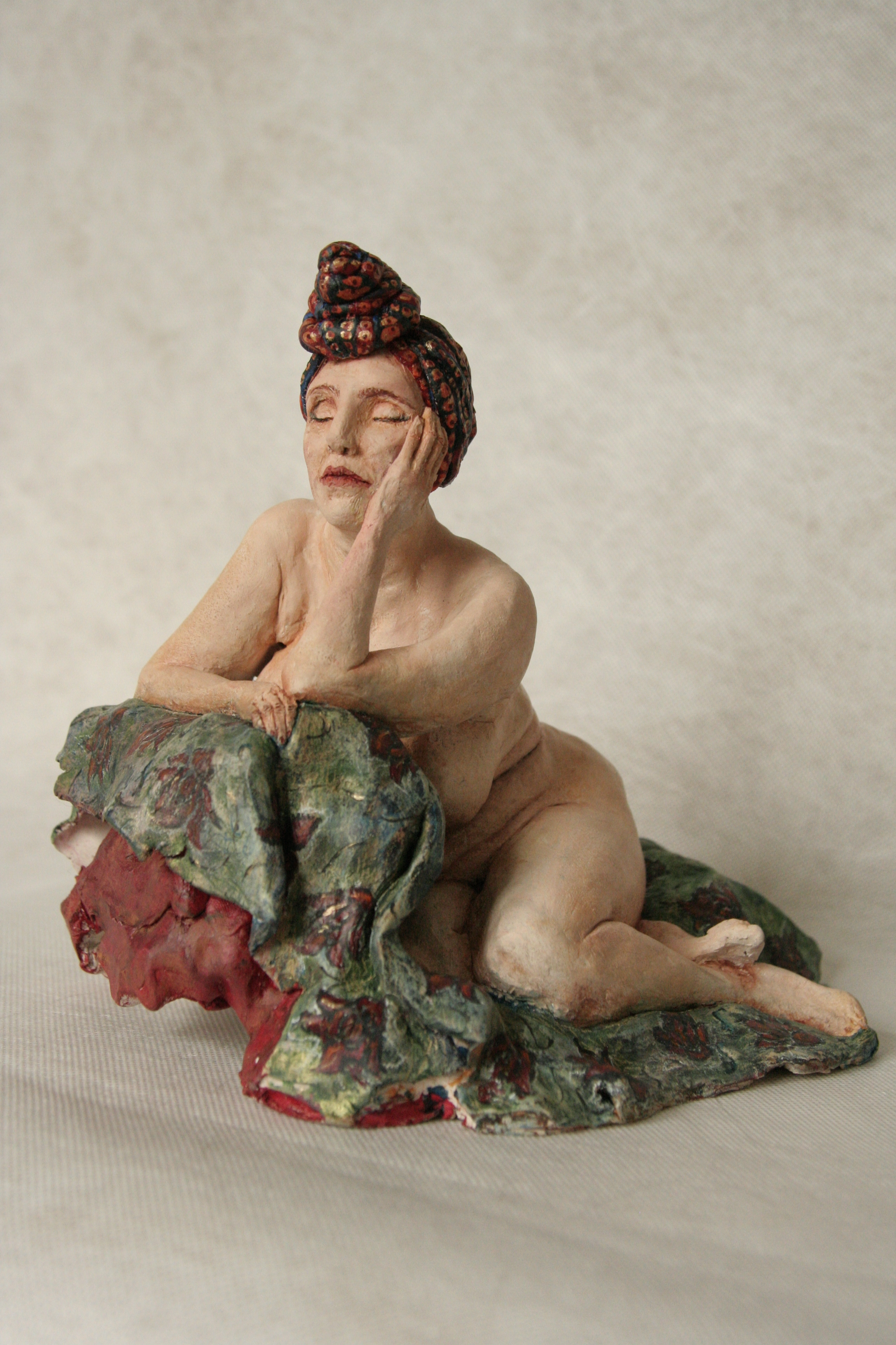 Rubenesque.Clay, 26cm l/ 19cm w/ 22cm h, available for sale
