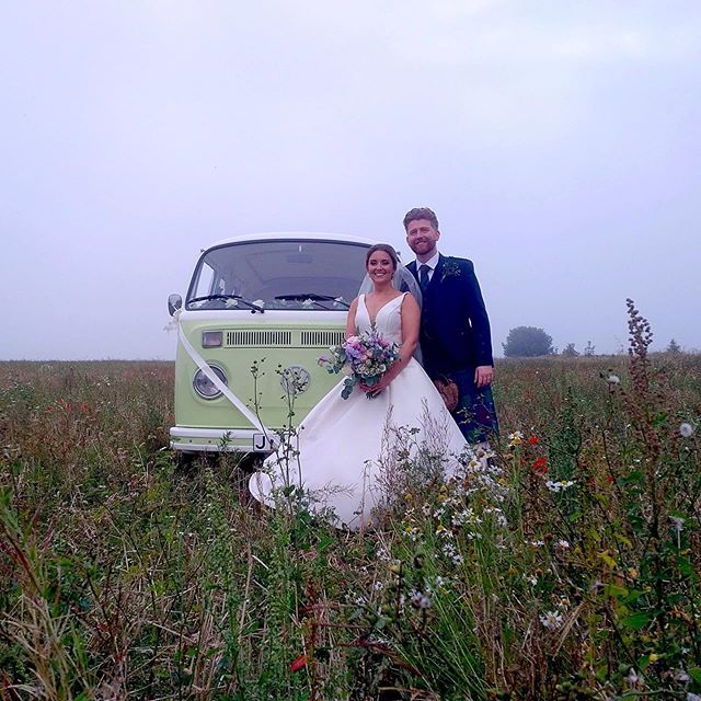 The rain held off just enough for Stuart & Michelle to get some summer field shots, they even found a one dry enough for Moomin to drive in & join them 😁before returning to @kinkell_byre for the party . . . #weddingtransport #weddingcardundee #weddingcarfife #weddingcarscotland #vintageweddingcar #campervanwedding #alternativetransport #vwcampervan #viewfromtheslowlane #wedspiration #scottishwedding #weddingscotland #scottishweddings #wedding2019 #brideandgroom #mrandmrs #scottishsummer #barnwedding #festivalwedding #camperwedding