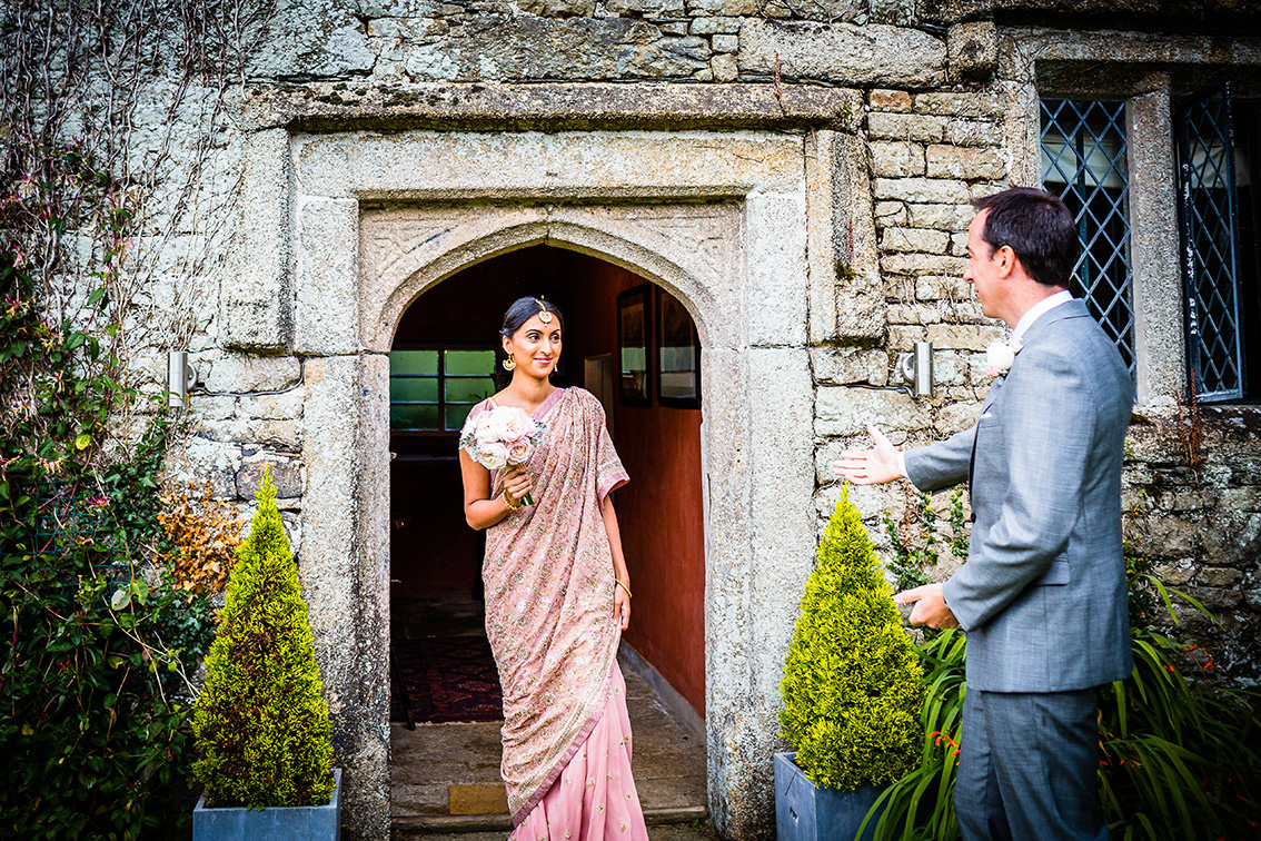 Real wedding at Pengenna Manor in Cornwall wedding venue Mandeep & Daniel 02.jpg
