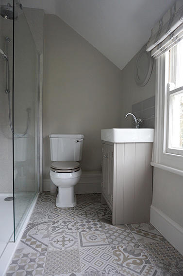 Luxury accommodation at Watergate at Pengenna Manor wedding venue in Cornwall Family shower room 01.jpg