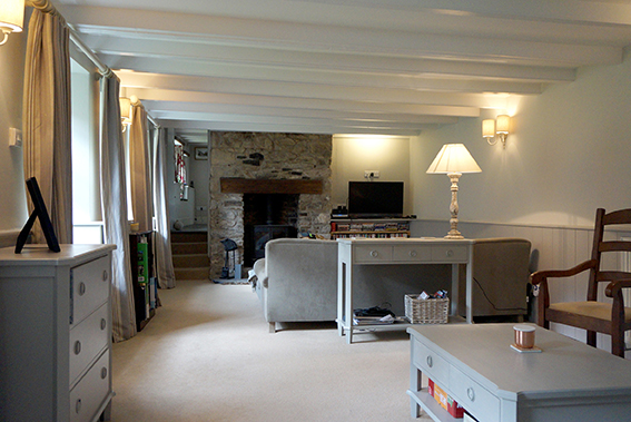 Luxury accommodation at Watergate at Pengenna Manor wedding venue in Cornwall Lounge 02.jpg